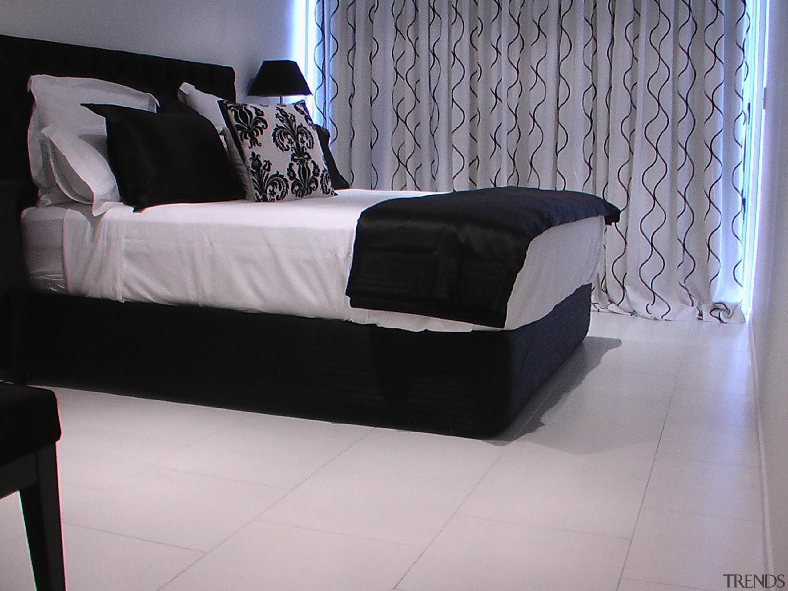Cork Concepts provides luxury eco flooring in unlimited angle, bed, bed frame, black, box spring, chaise longue, couch, floor, flooring, furniture, interior design, mattress, product, product design, sofa bed, studio couch, gray, black