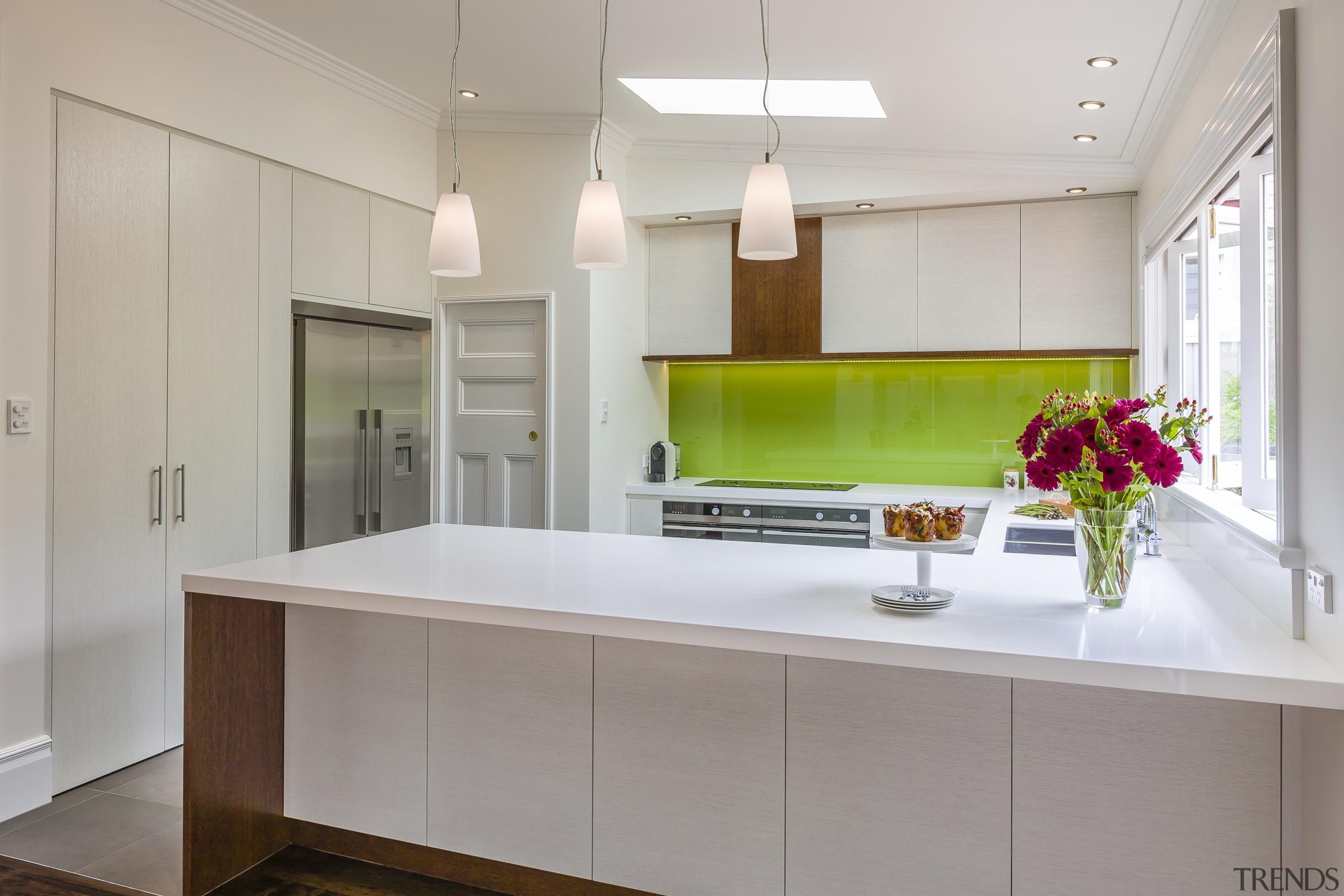 Contemporary kitchen appliances - Contemporary kitchen appliances - cabinetry, countertop, interior design, kitchen, real estate, room, gray