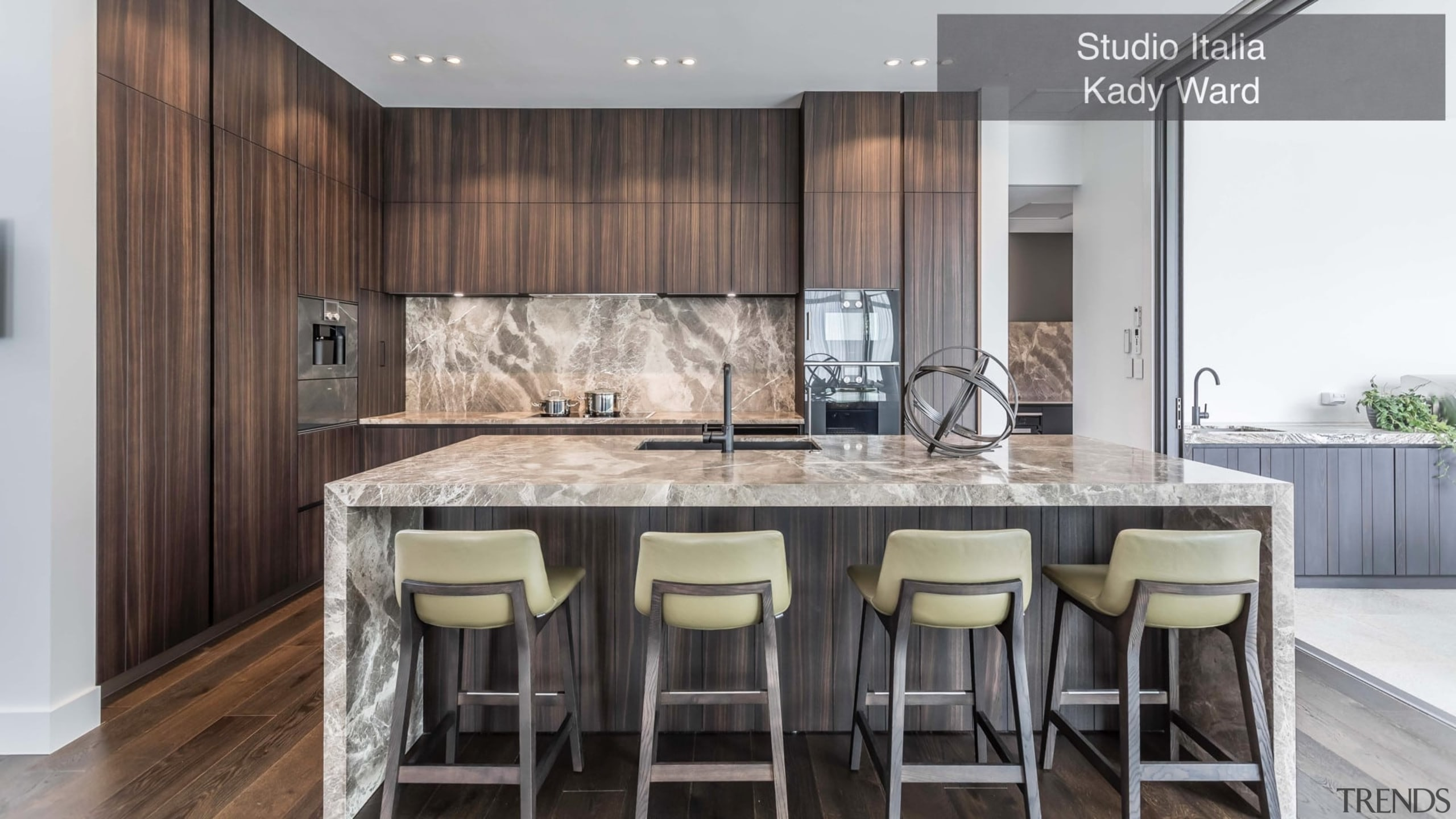 Highly Commended – Studio Italia Kady Ward – cabinetry, countertop, cuisine classique, interior design, kitchen, real estate, room, gray