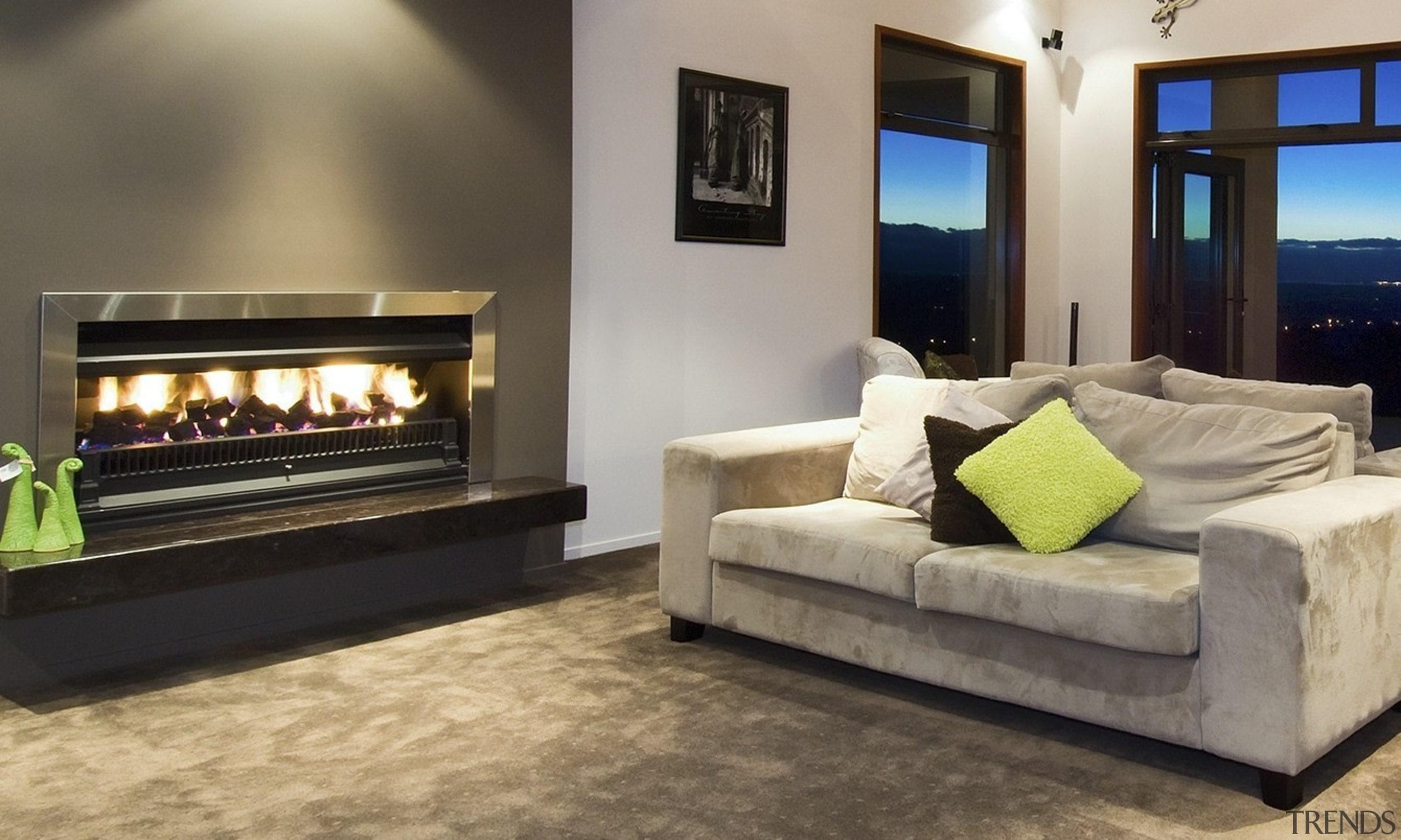 SG1100 Open Gas - SG1100 Open Gas - fireplace, floor, flooring, furniture, hearth, home, interior design, living room, property, gray