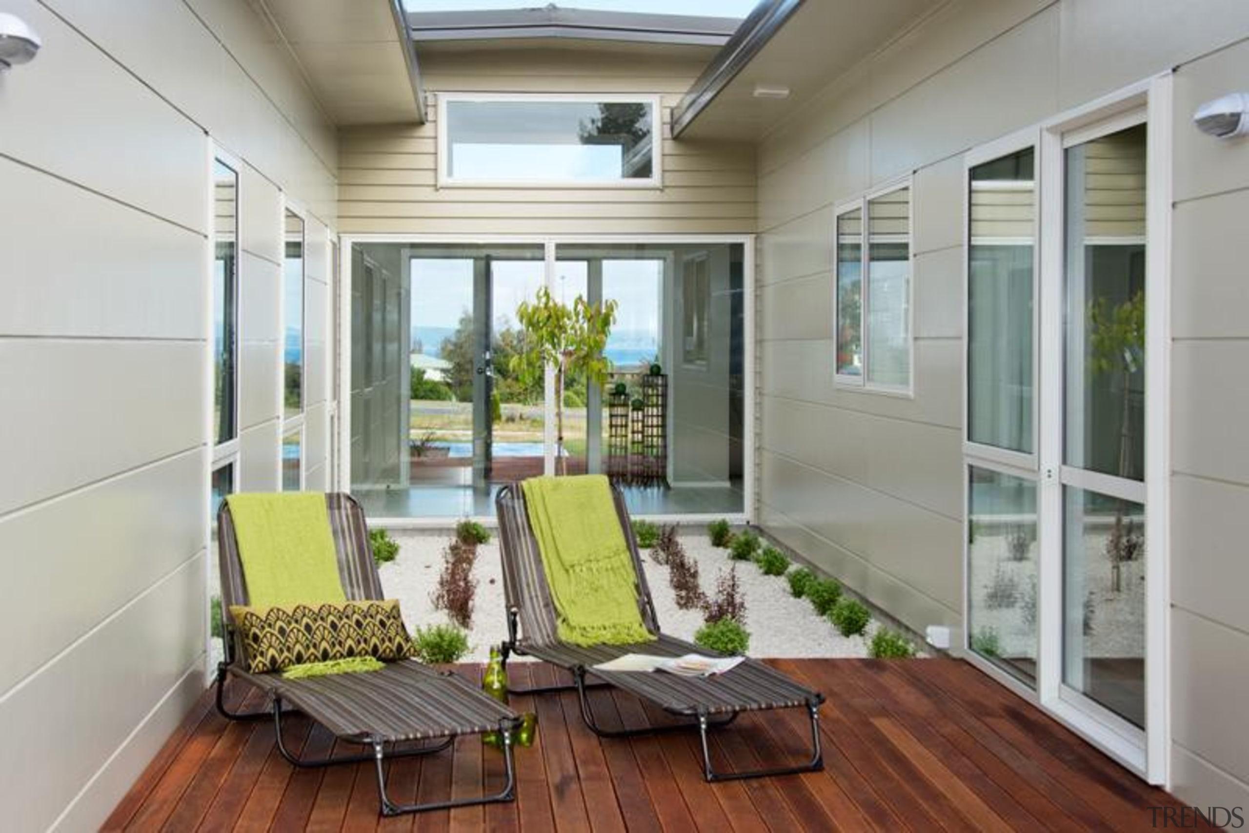 Stria Cladding - Stria Cladding - balcony | balcony, daylighting, home, house, interior design, porch, real estate, window, gray