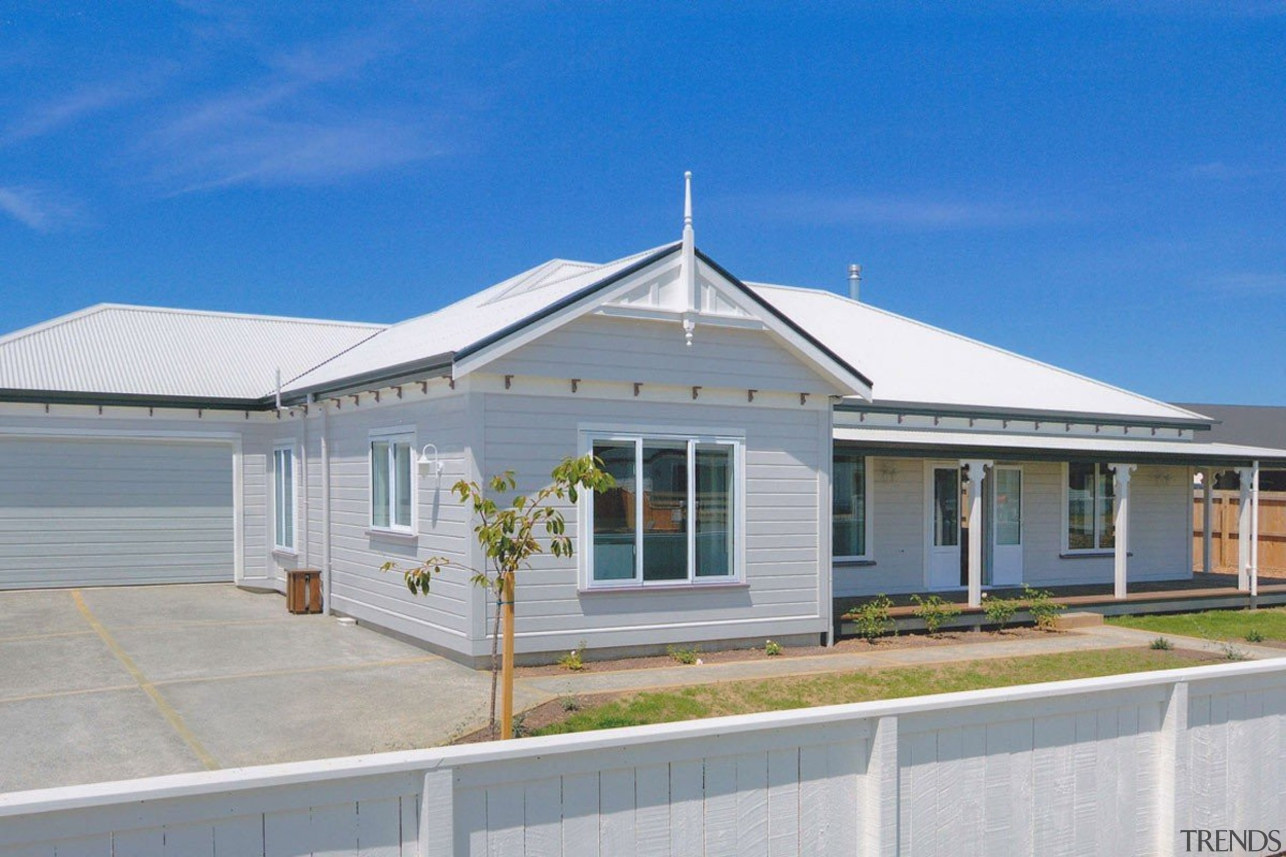 Envira weatherboard home in Renwick Blenheim. - Envira cottage, elevation, estate, facade, home, house, property, real estate, residential area, roof, gray, blue