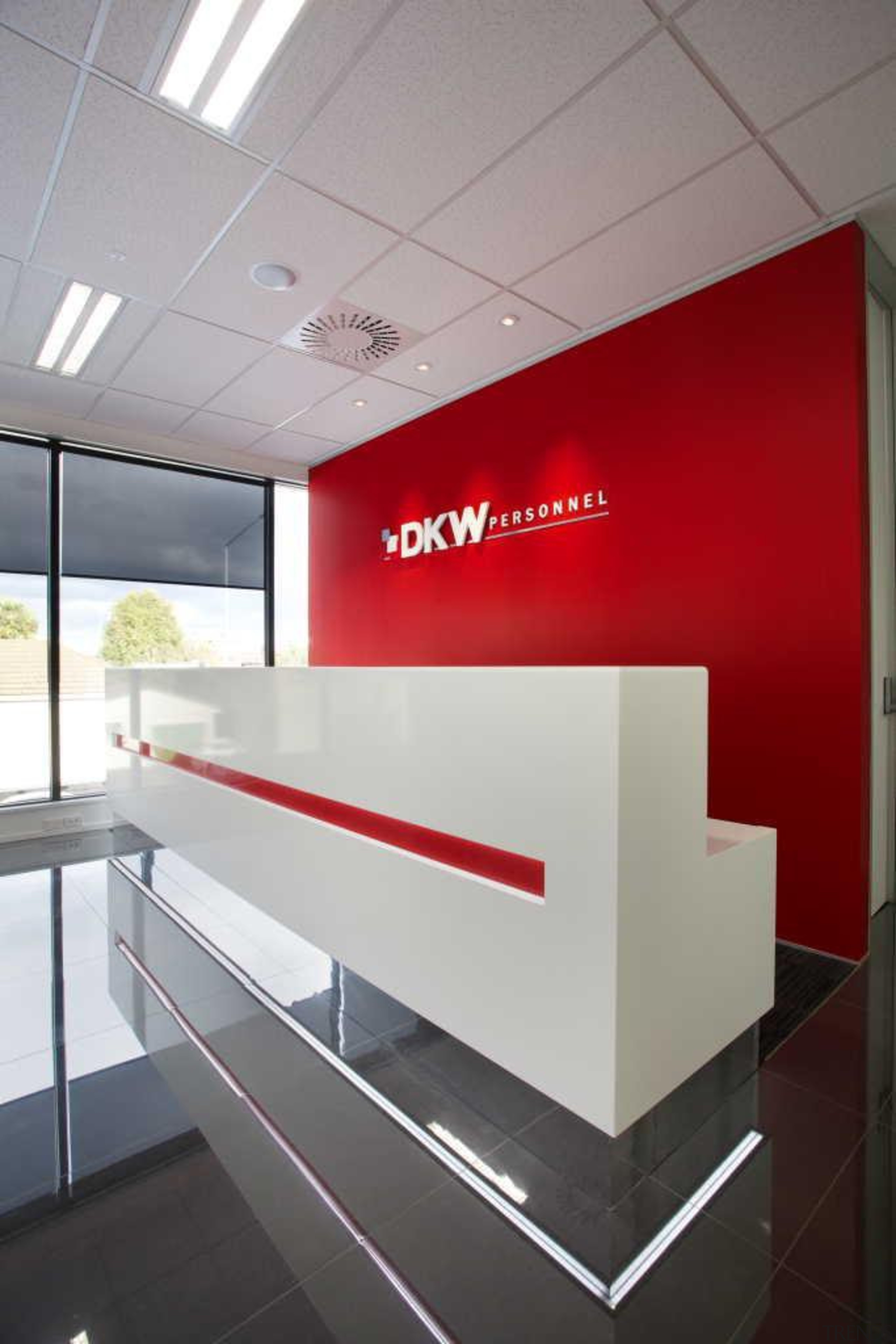 The new Christchurch office of DKW Personnel by architecture, ceiling, interior design, office, product design, wall, gray