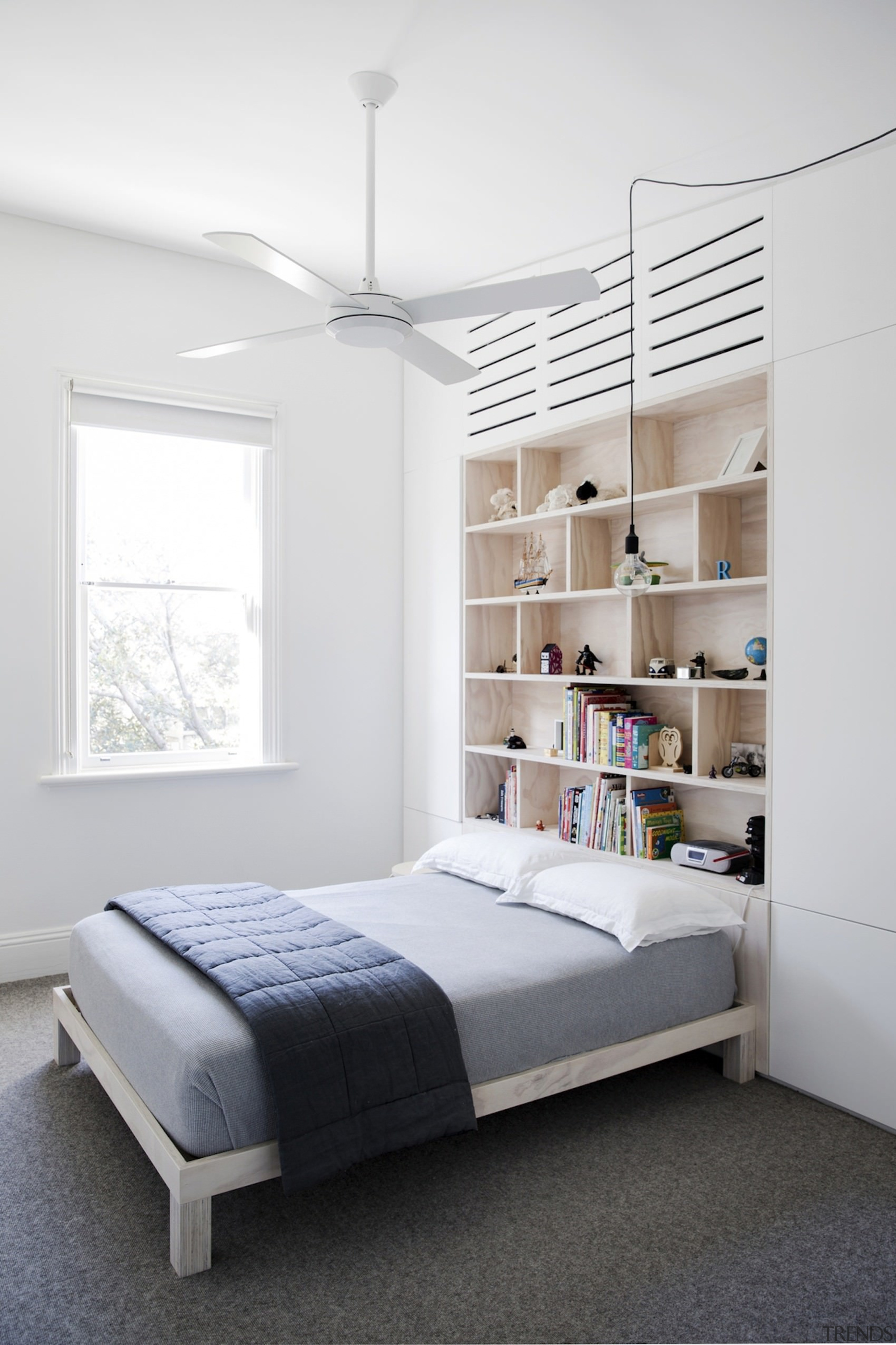Architect: Architect PrineasPhotography by Chris Warnes bed, bed frame, bedroom, ceiling, furniture, home, interior design, room, wall, white