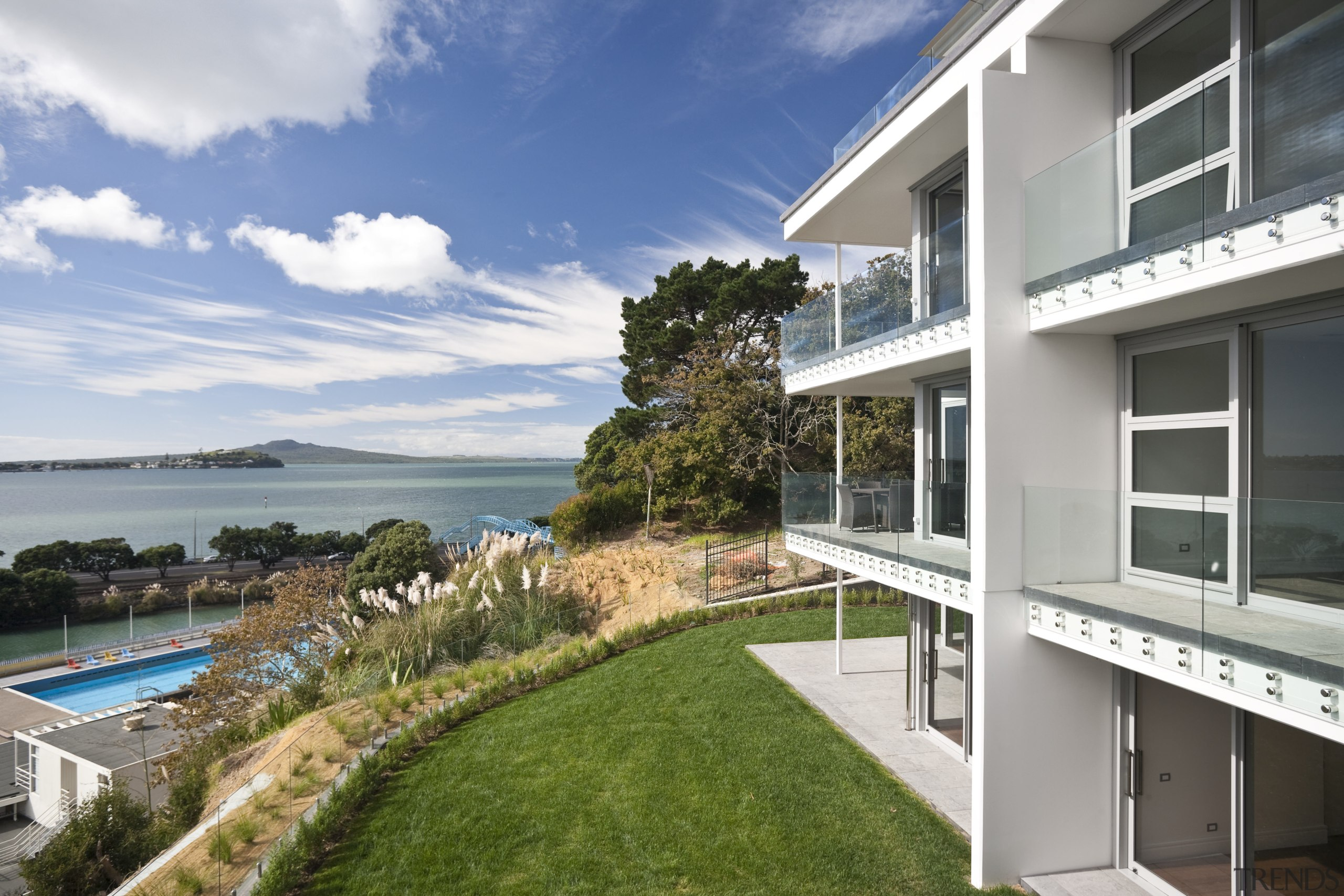 View of a large apartment development in Auckland apartment, condominium, estate, home, house, property, real estate, residential area, villa, white