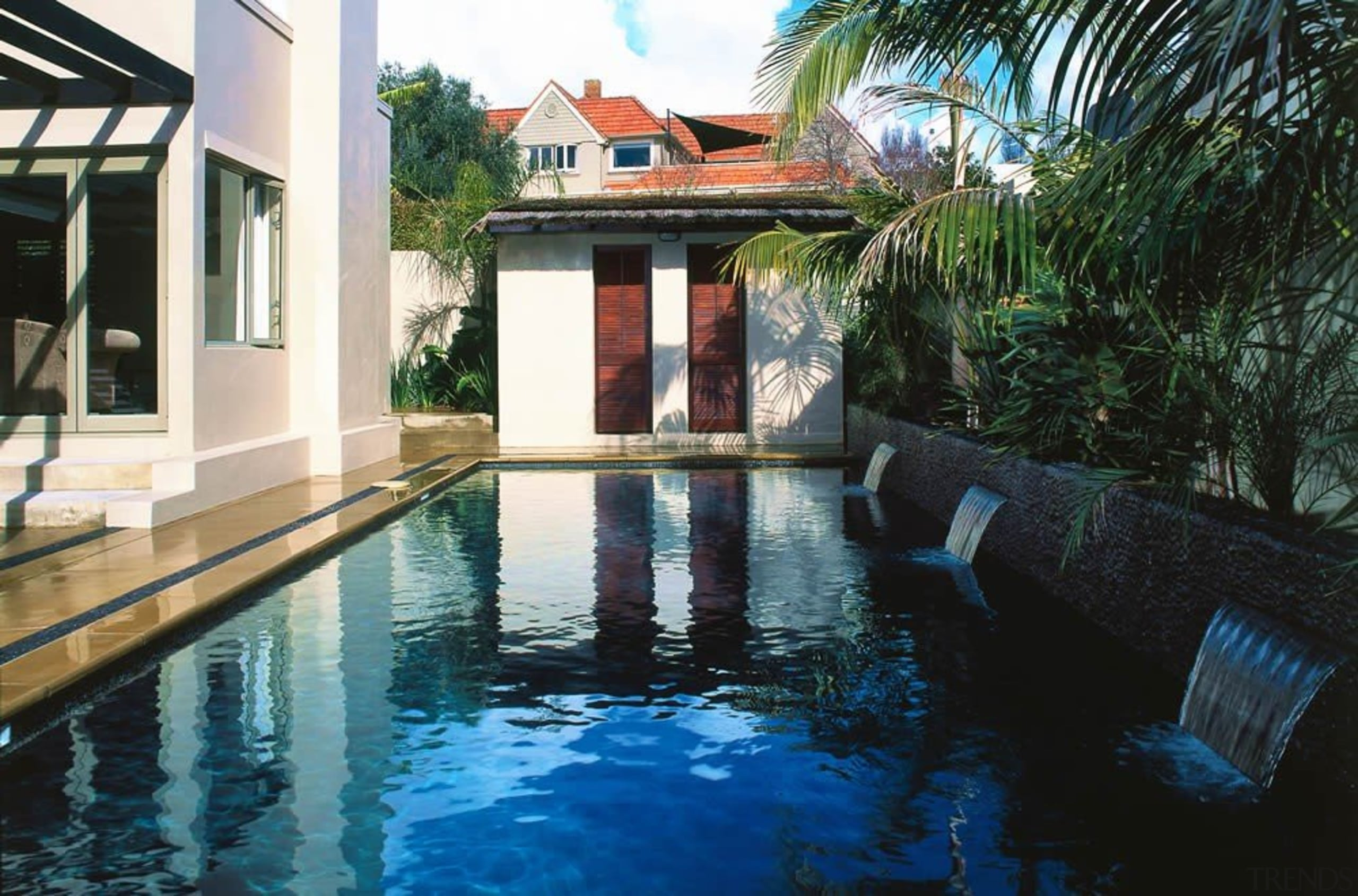 Residential - Residential - arecales | estate | arecales, estate, hacienda, home, house, leisure, palm tree, property, real estate, reflecting pool, resort, swimming pool, villa, water, black