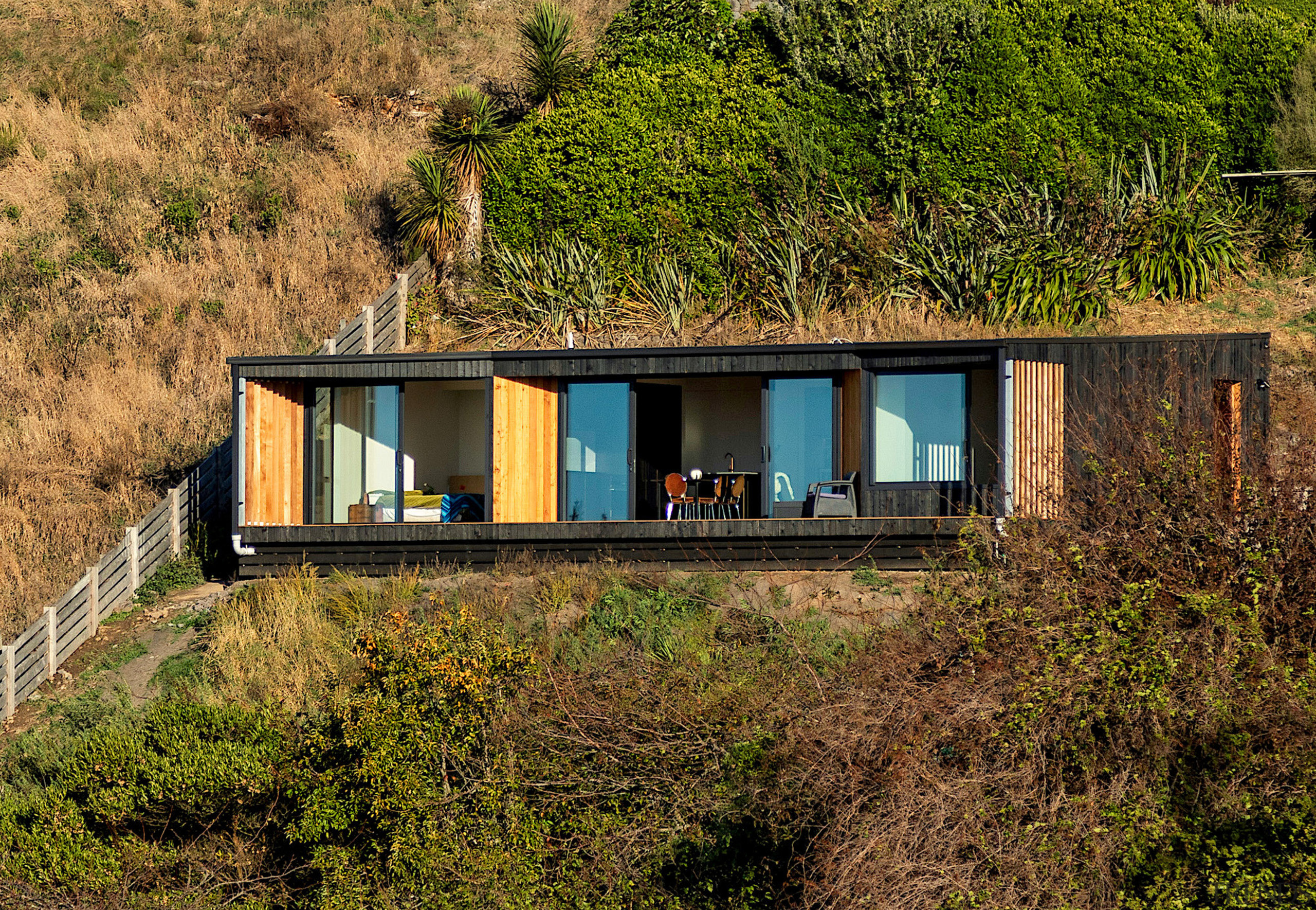 Outdoor living and unobstructed views were key aspects