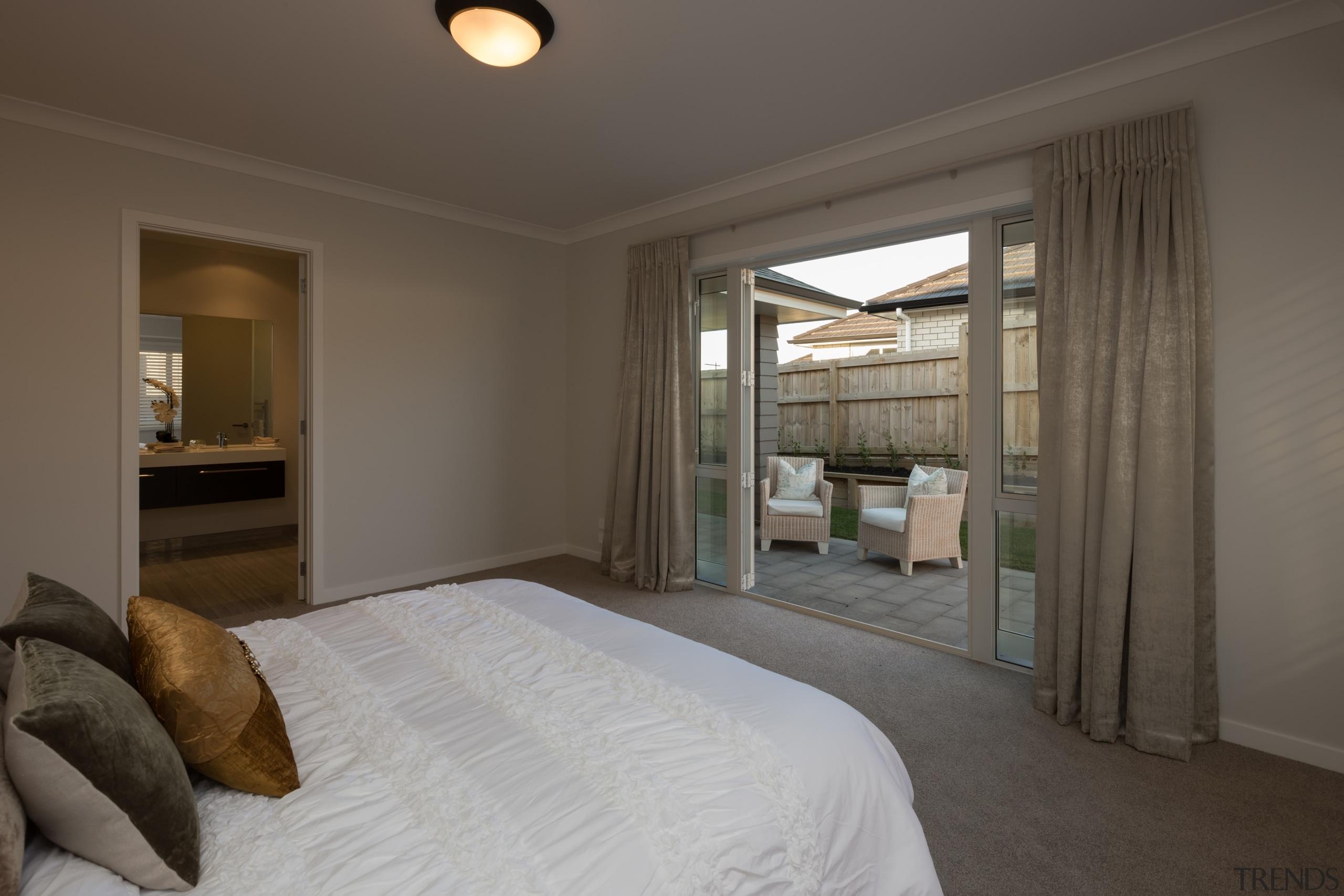 Landmark Homes Brookside Design Master Bedroom - Landmark bedroom, ceiling, estate, home, interior design, property, real estate, room, window, wood, gray