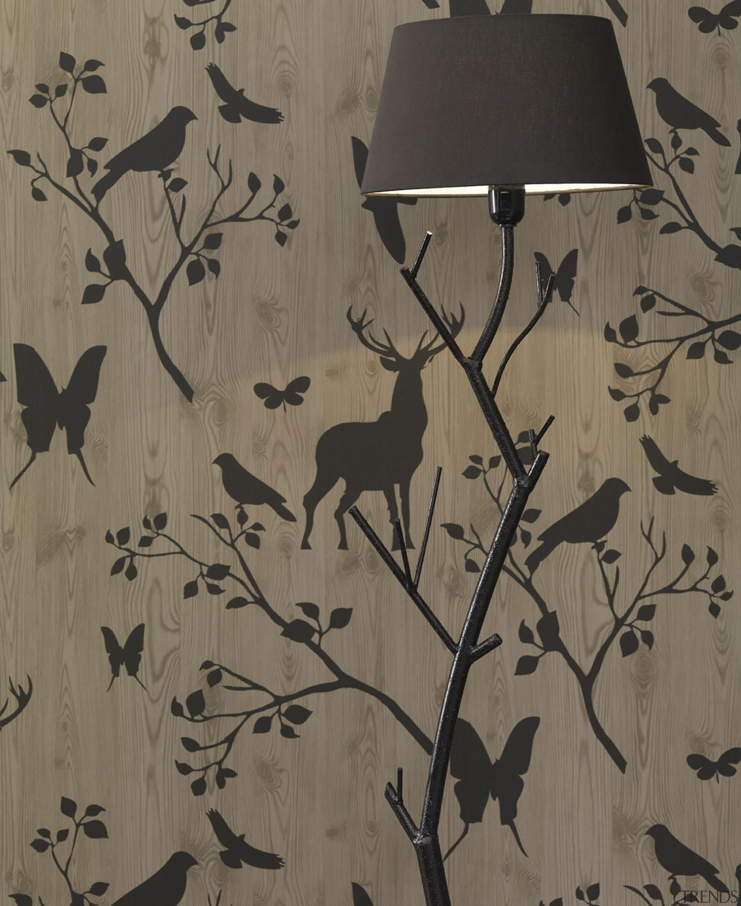 Modern Style Range - branch | design | branch, design, fauna, pattern, wall, wallpaper, wood, gray