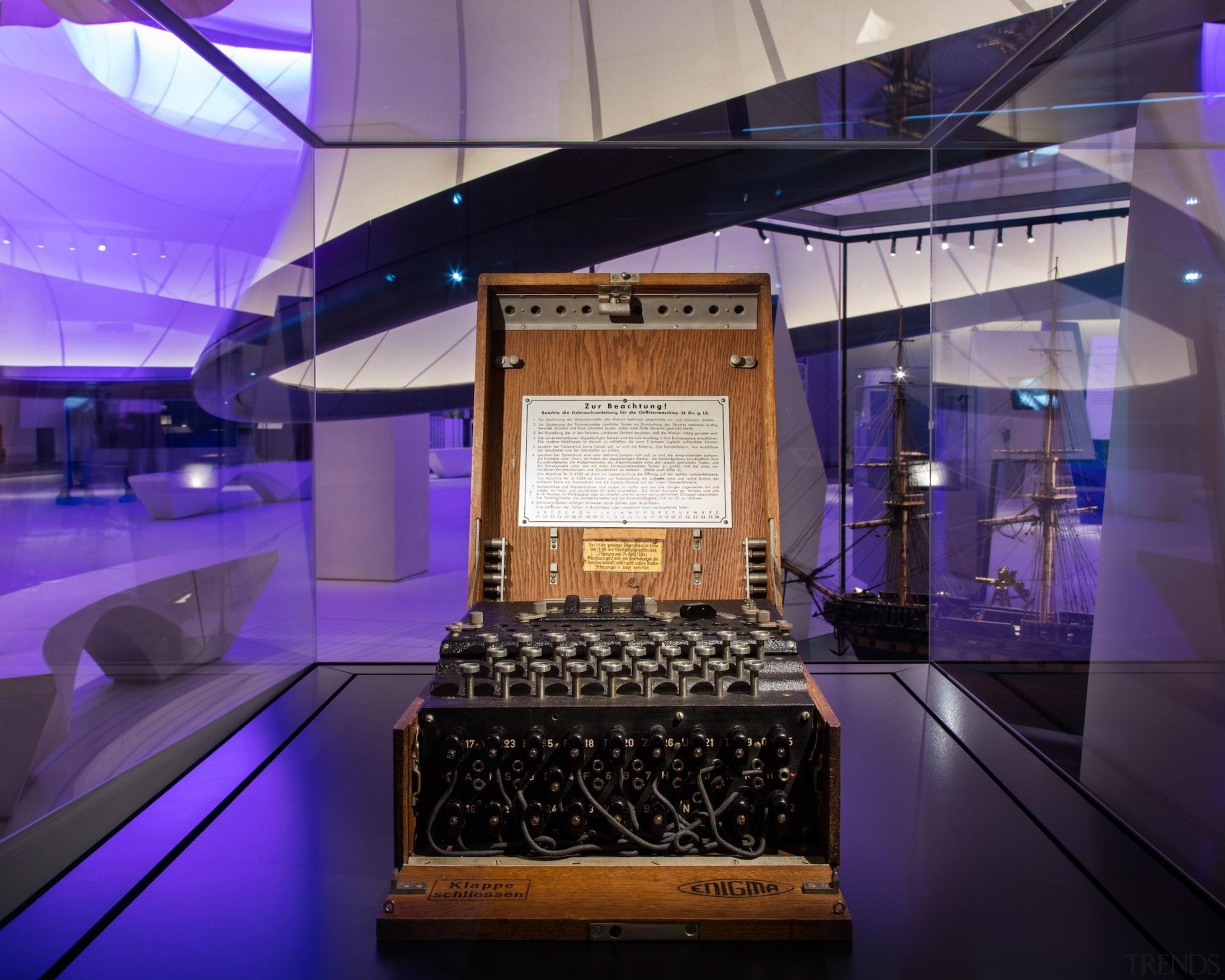 Zaha Hadid – Mathematics: The Winton Gallery – interior design, purple