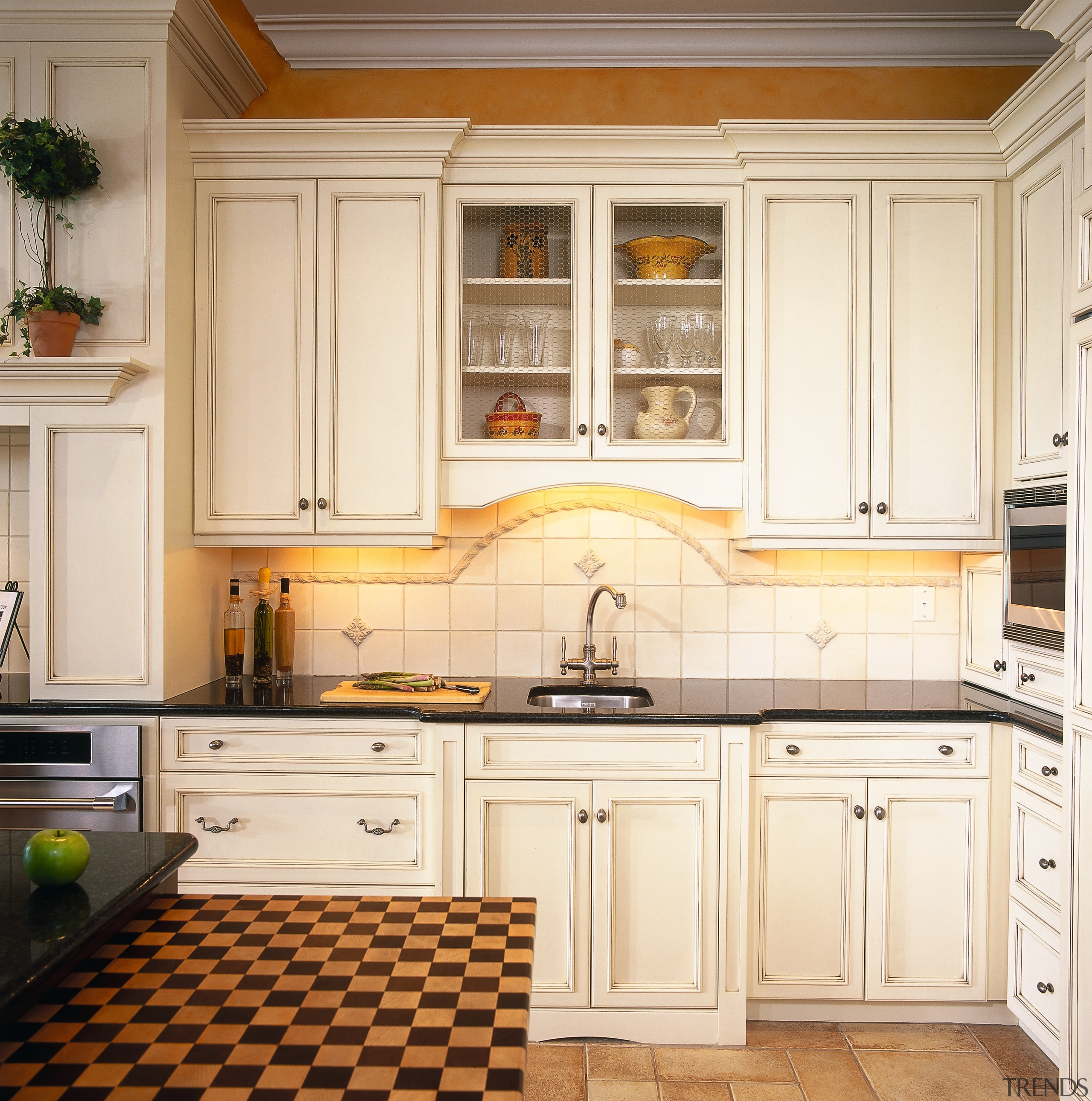 Close view of this area of the kitchen cabinetry, countertop, cuisine classique, floor, interior design, kitchen, room, white