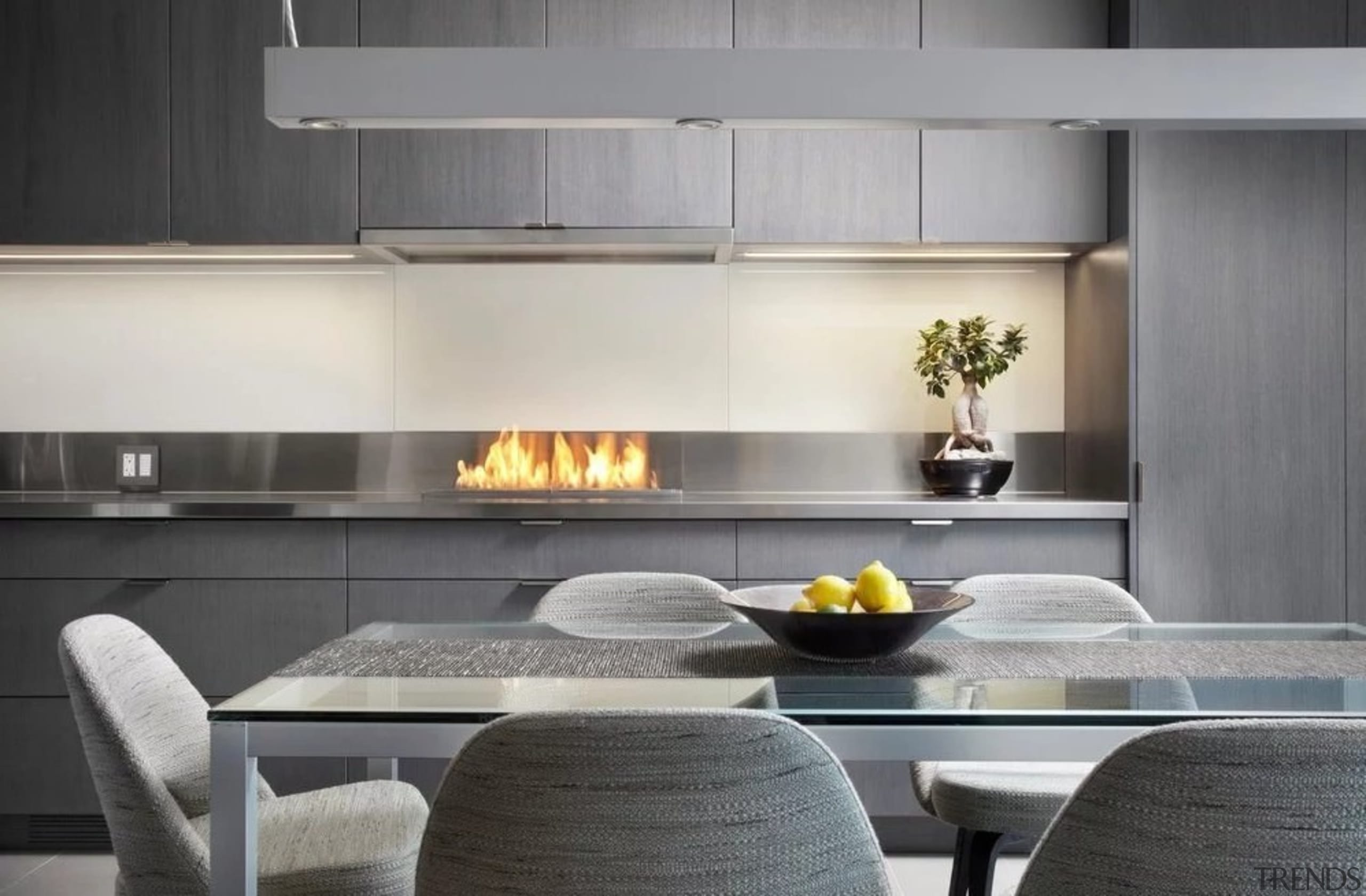 About to redesign? Check out these trends ... countertop, interior design, kitchen, kitchen stove, product design, table, gray, black