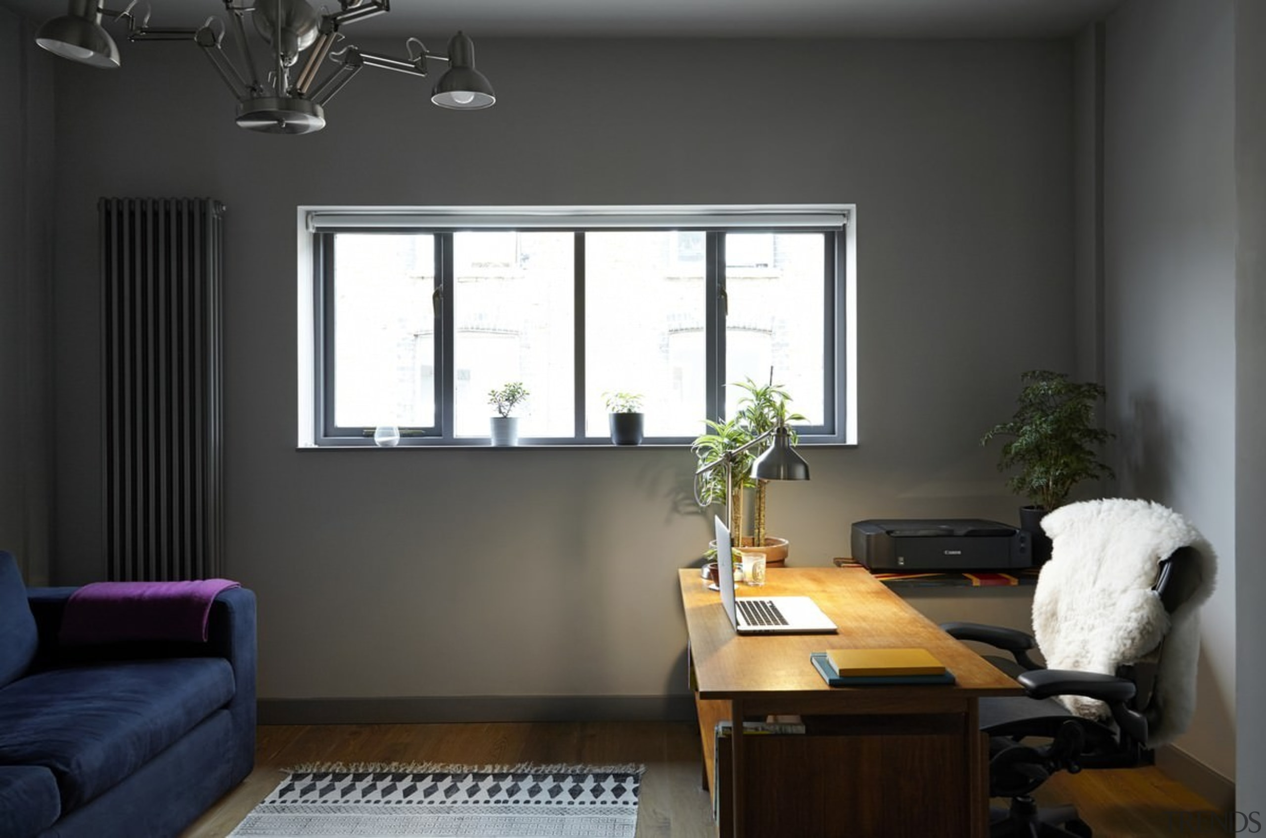 The home office is an ideal place to furniture, home, interior design, living room, office, room, window, window covering, black