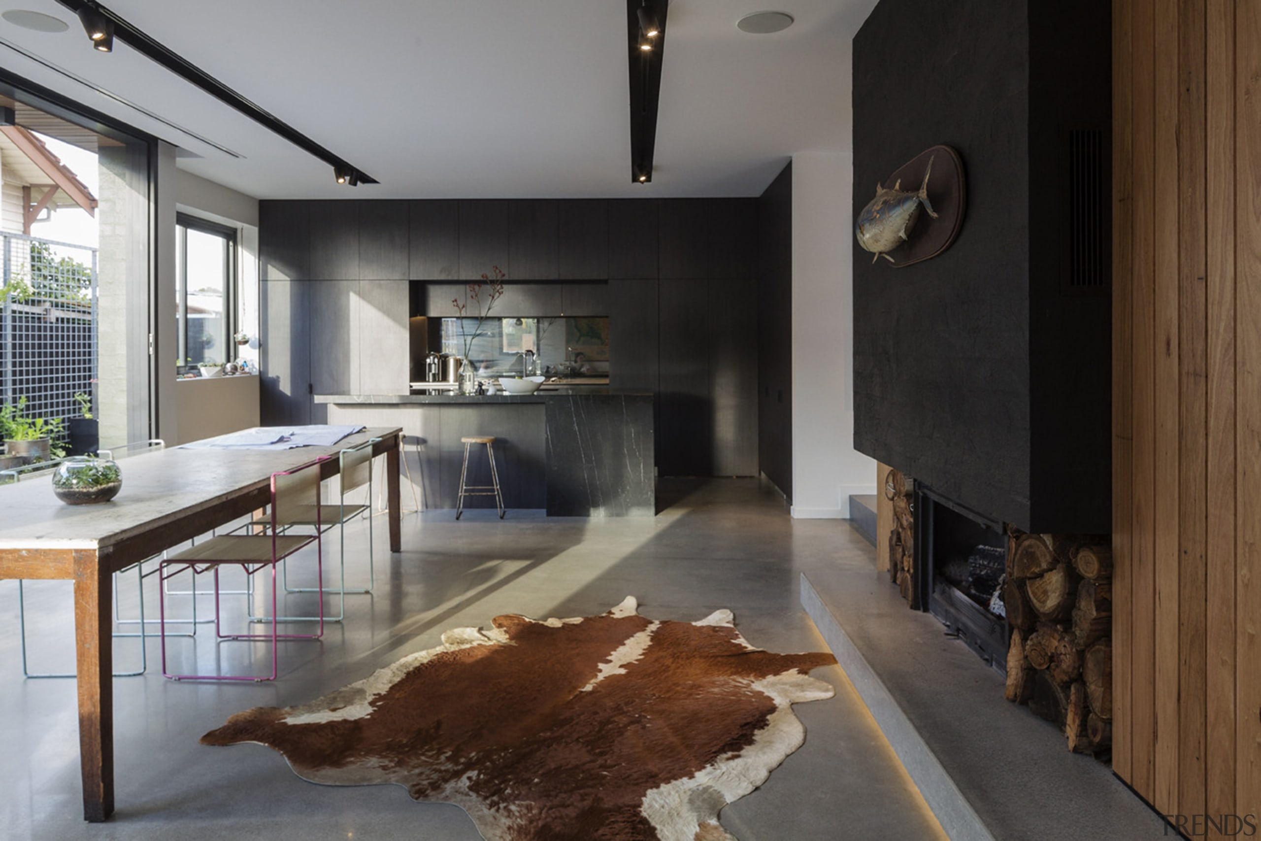 The Best Residential Interior Award at NABD 2015 architecture, house, interior design, gray, brown