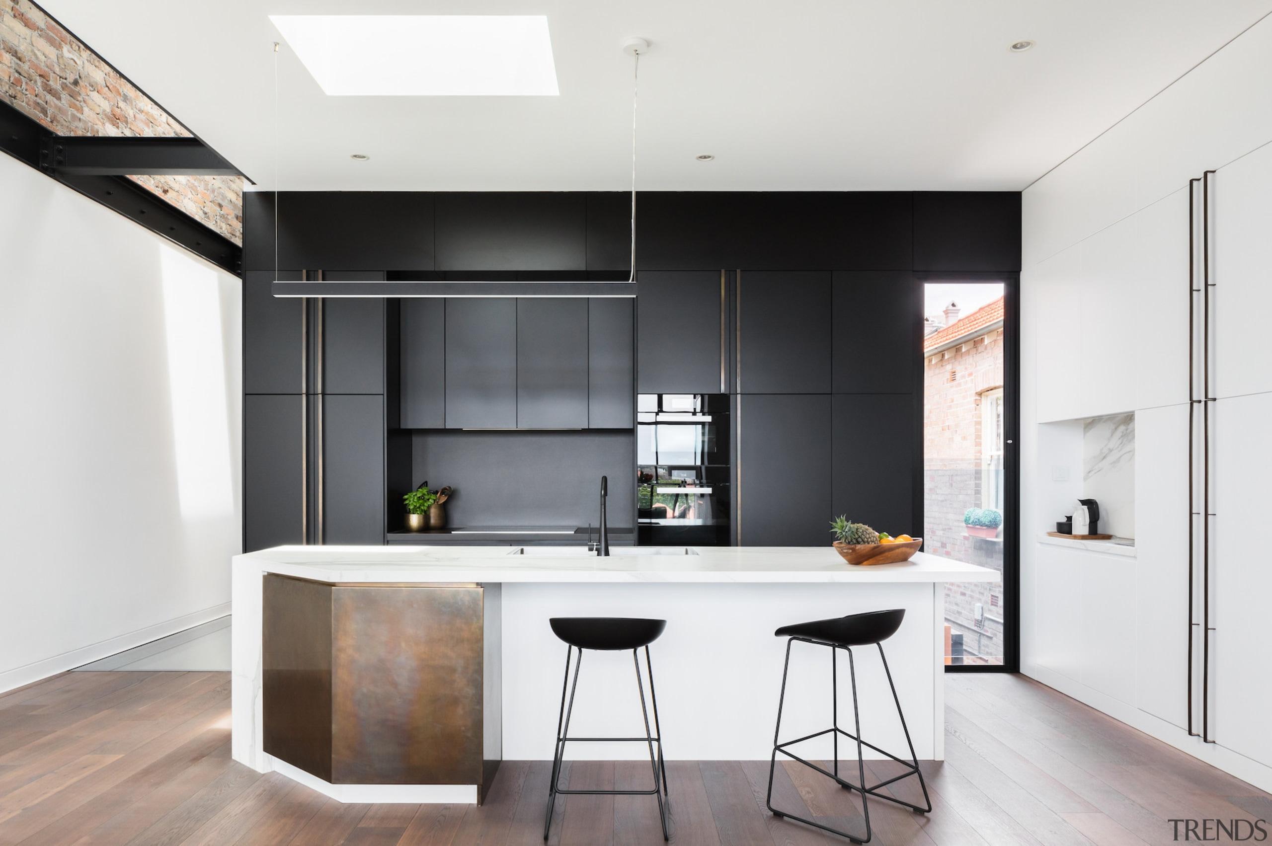 Bijl Architecture architecture, cabinetry, countertop, floor, interior design, kitchen, white