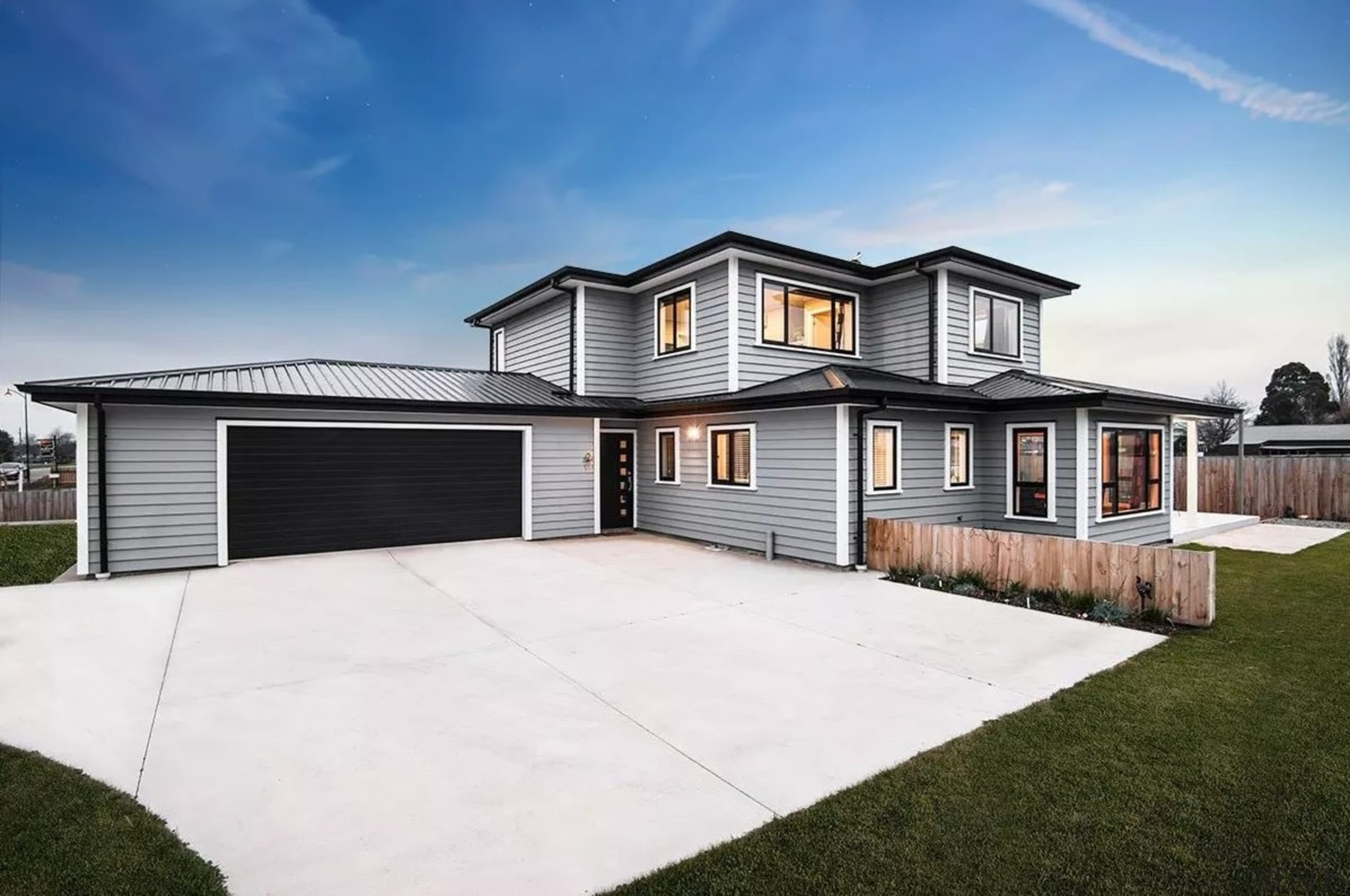 Envira bevel back weatherboards - Envira bevel back elevation, estate, facade, home, house, property, real estate, residential area, siding, white