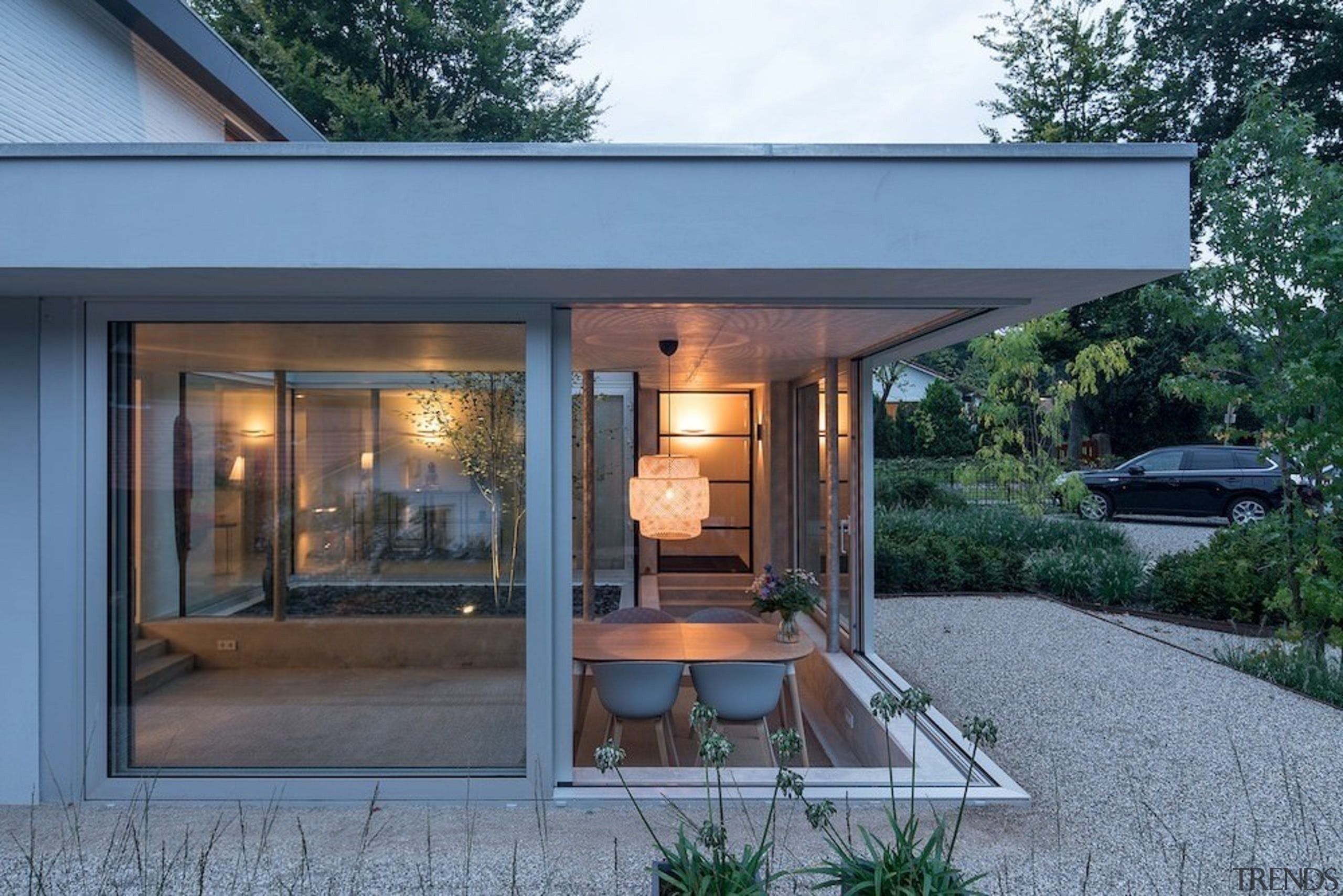 Another view of the sheltered outdoor area - architecture, home, house, real estate, window, teal