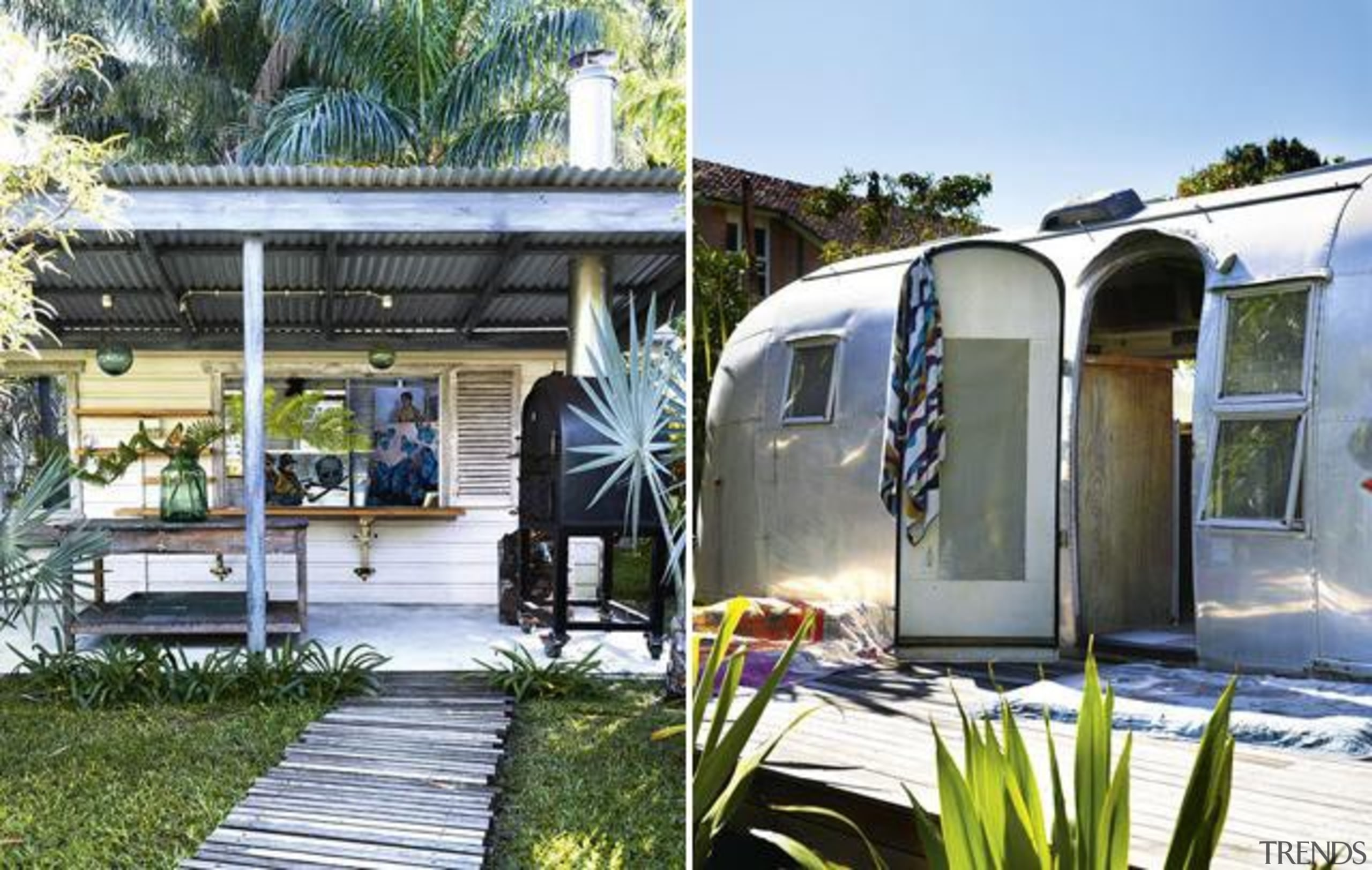 OUTDOOR - car | home | house | car, home, house, plant, shed, travel trailer, vehicle, white