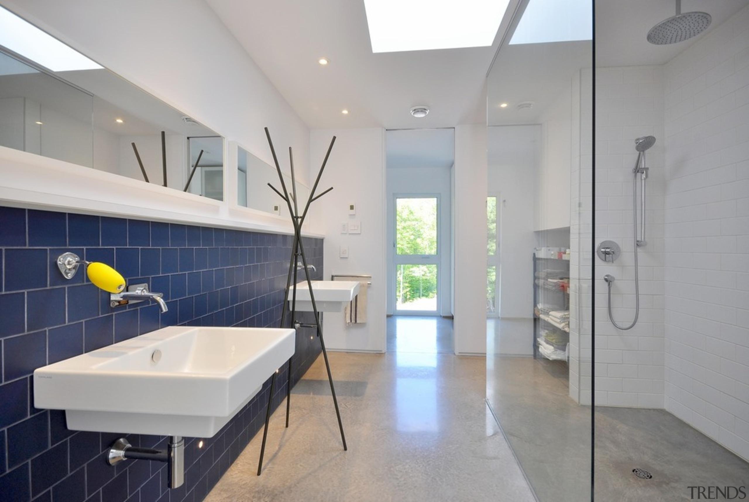 Master bathroom - Platform for design - architecture architecture, bathroom, ceiling, daylighting, estate, floor, flooring, home, house, interior design, real estate, room, tile, gray