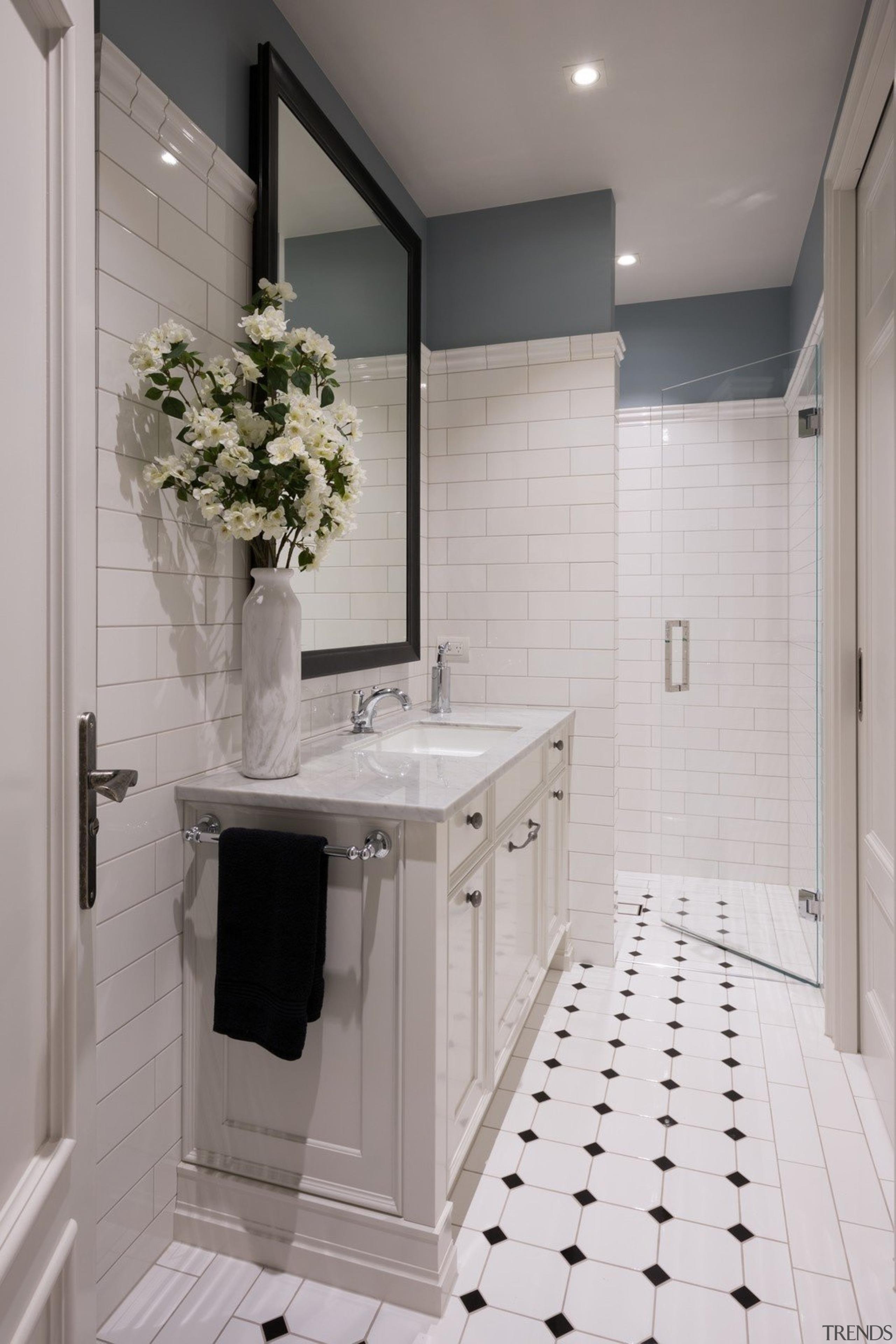 Bathroom - bathroom   bathroom accessory   countertop bathroom, bathroom accessory, countertop, floor, flooring, home, interior design, room, sink, tile, gray