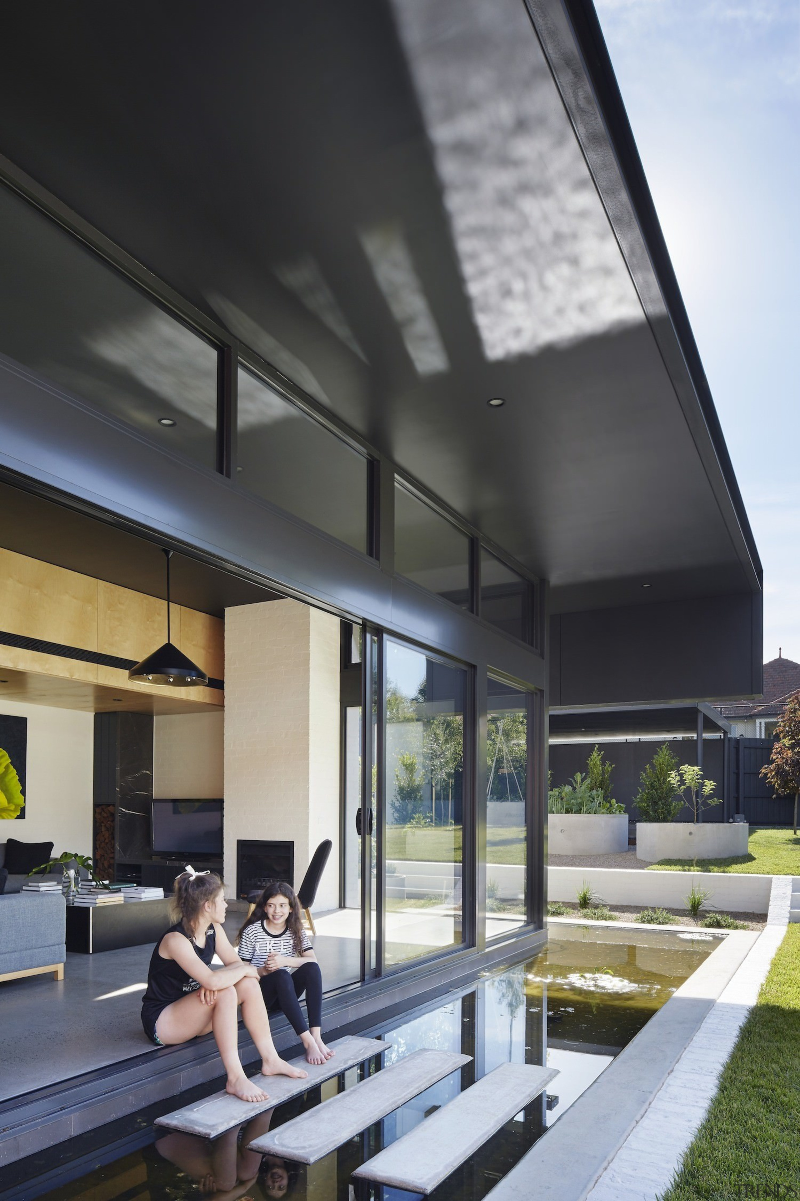 Architect: Nic Owen ArchitectsPhotography by Christine architecture, ceiling, daylighting, house, interior design, roof, black