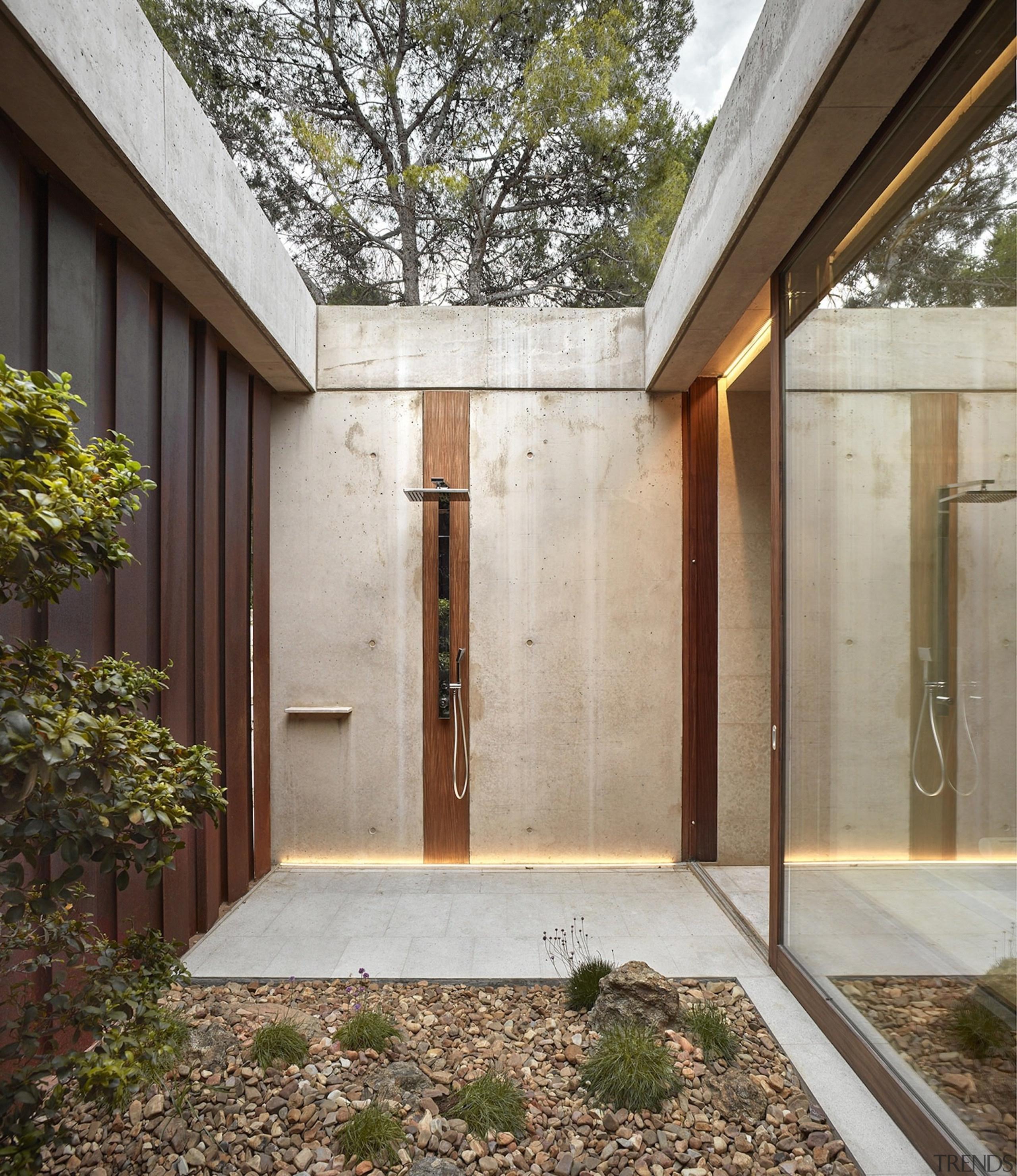 Architect: Ramón Esteve Estudio de Arquitectura architecture, backyard, courtyard, daylighting, facade, home, house, property, real estate, siding, window, gray, brown