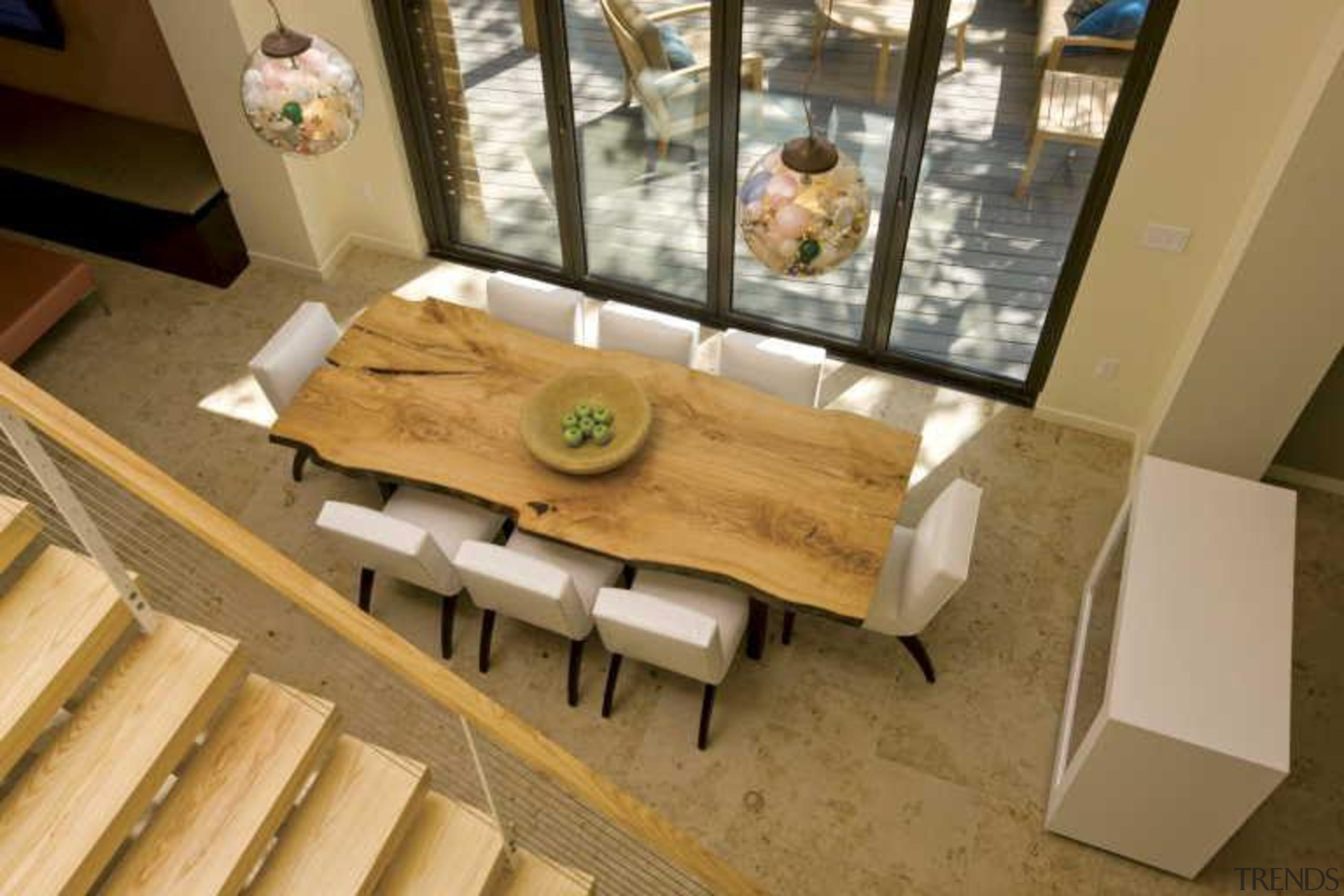 Warmboard provides and eco friendly, quiet and efficient architecture, dining room, floor, flooring, furniture, interior design, product design, room, table, brown, orange