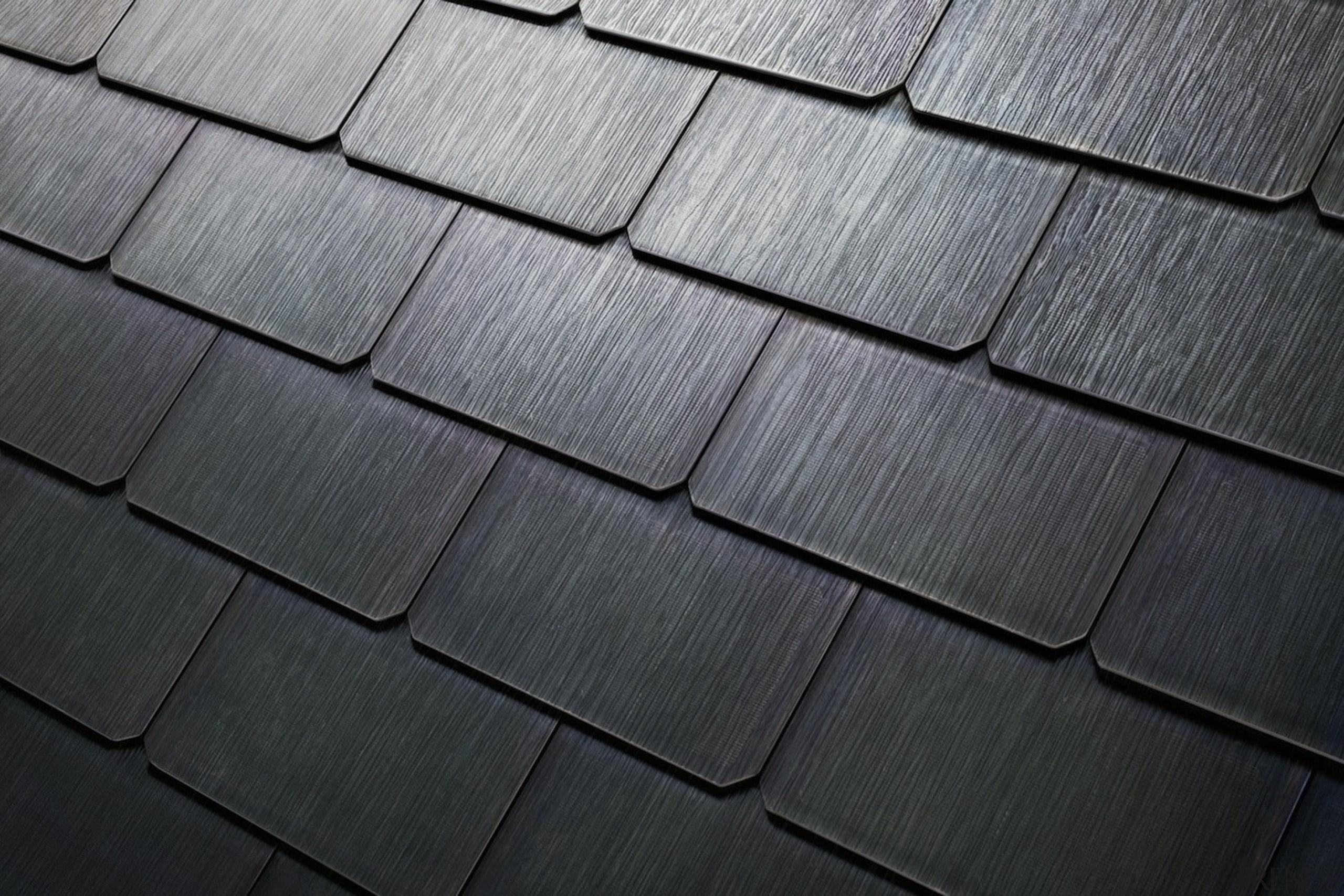 Tesla Solar Roof tiles - Tesla Solar Roof angle, black, daylighting, line, material, road surface, slate, texture, wood, black, gray