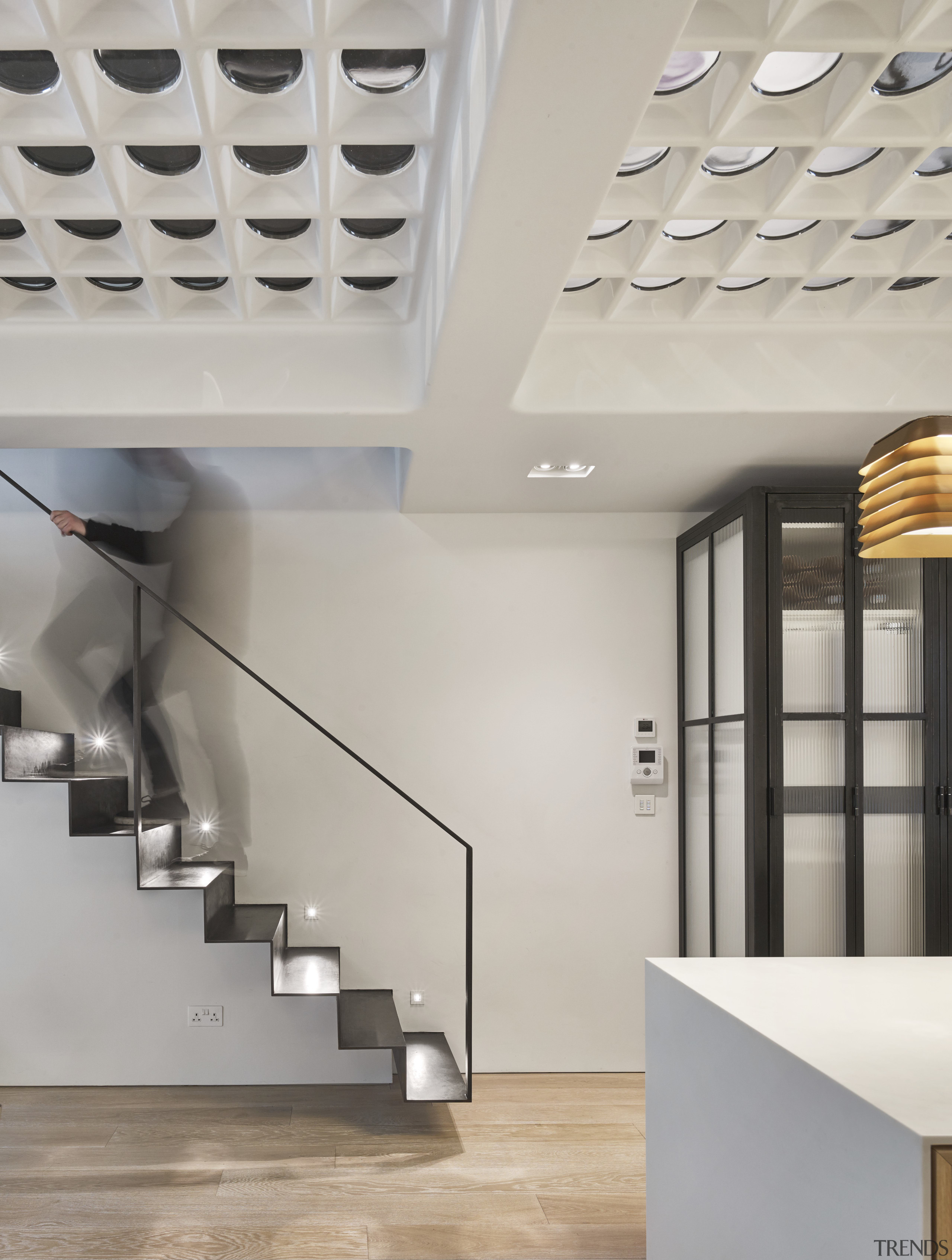 Floating on air  beside the kitchen and architecture, ceiling, daylighting, interior design, product design, gray