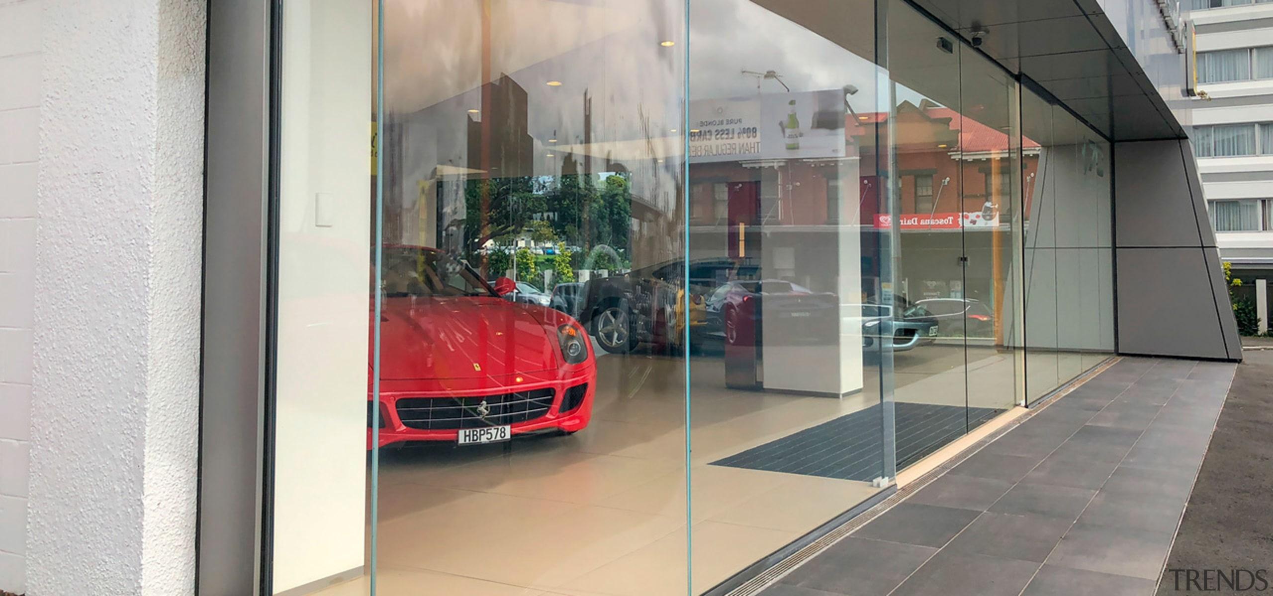 Ferrari Showroom 6 - automotive design | automotive automotive design, automotive exterior, building, car, car dealership, executive car, glass, luxury vehicle, real estate, supercar, vehicle, gray