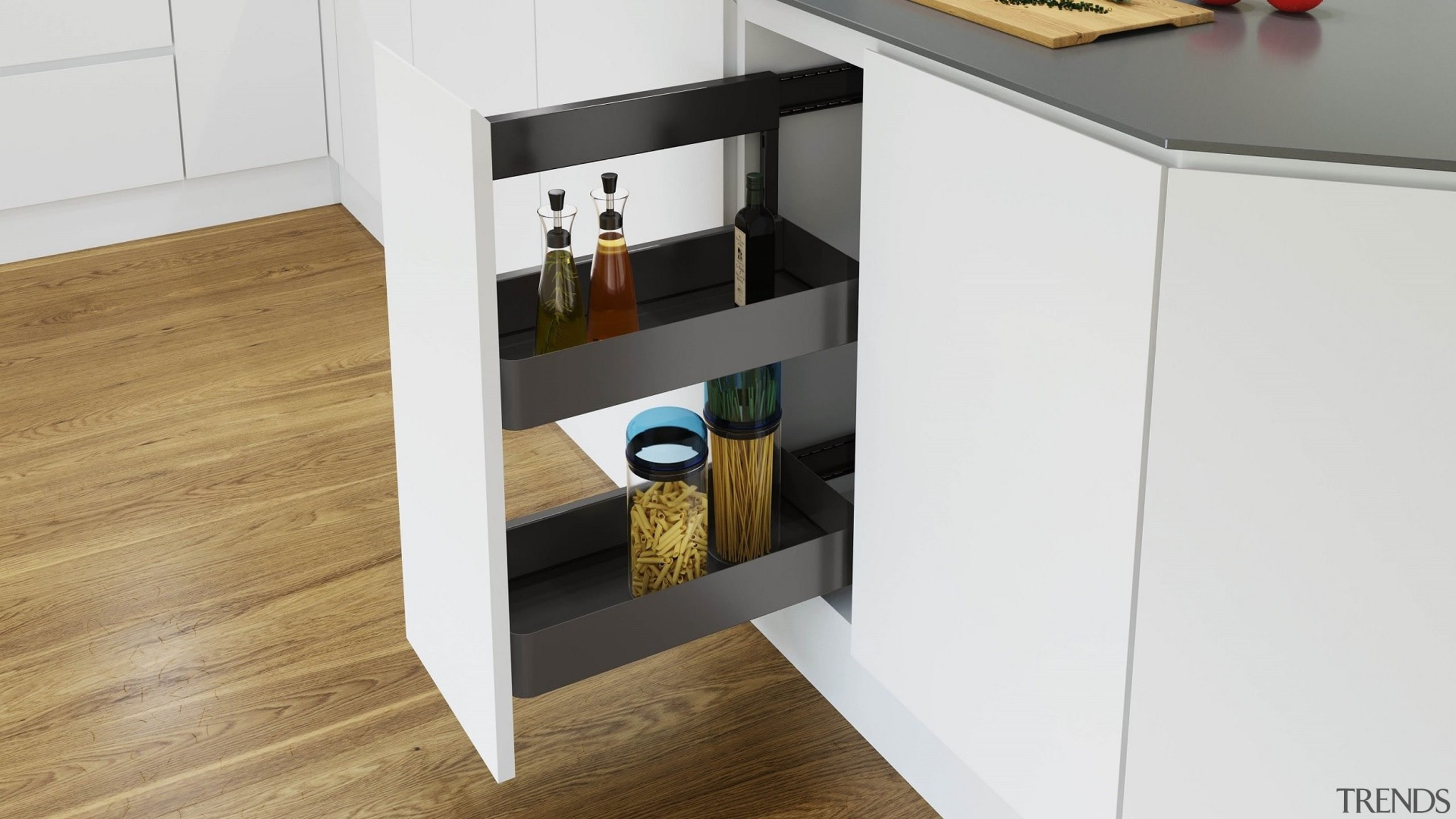 Vauth Sagel SUB Side Underbench Pull Out Unit chest of drawers, drawer, floor, furniture, product, shelf, shelving, sideboard, table, white