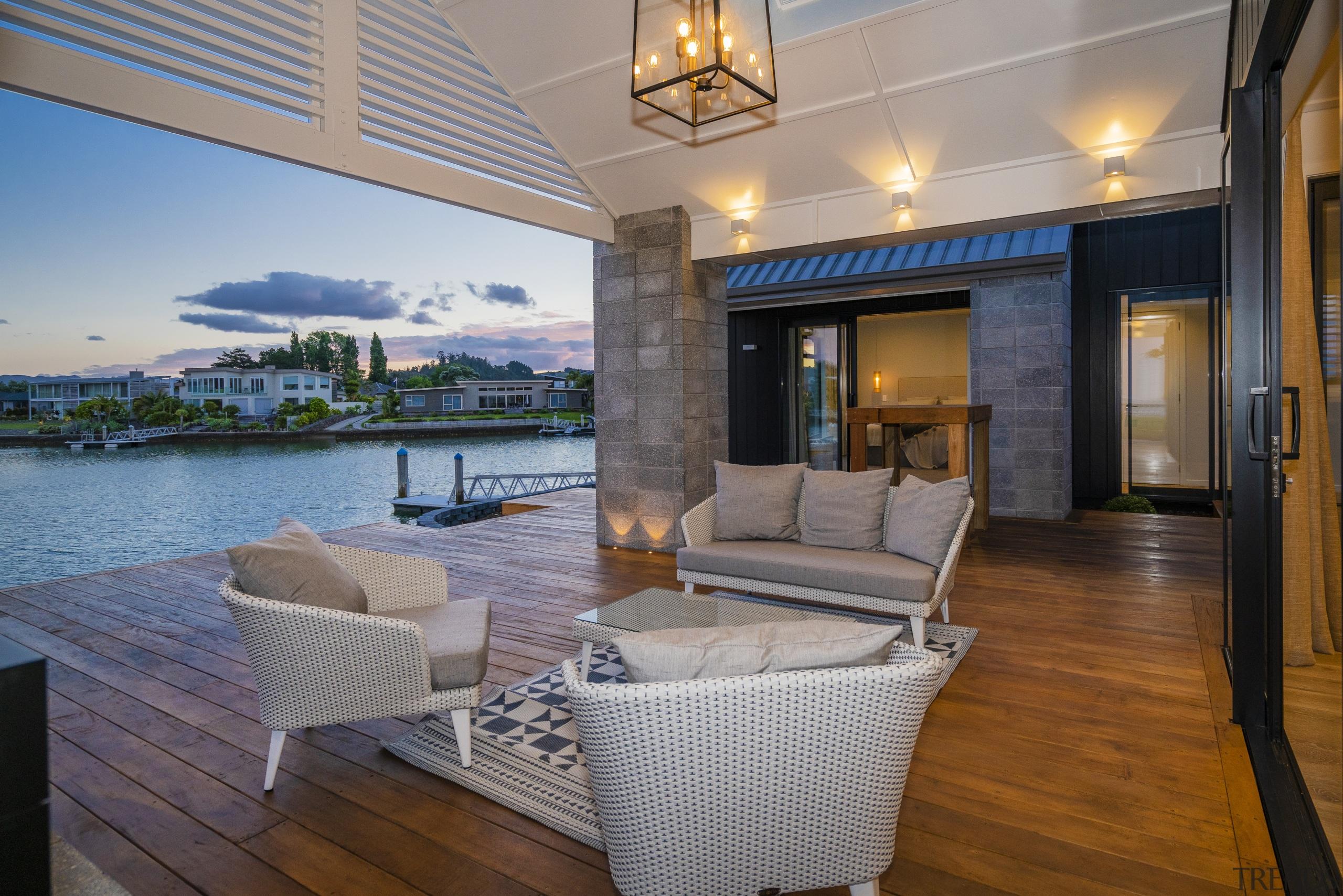 On Landmark Home's Coromandel house design, the expansive deck, home, interior design, patio, real estate, showhome, landmark homes, timber deck, covered pavilion