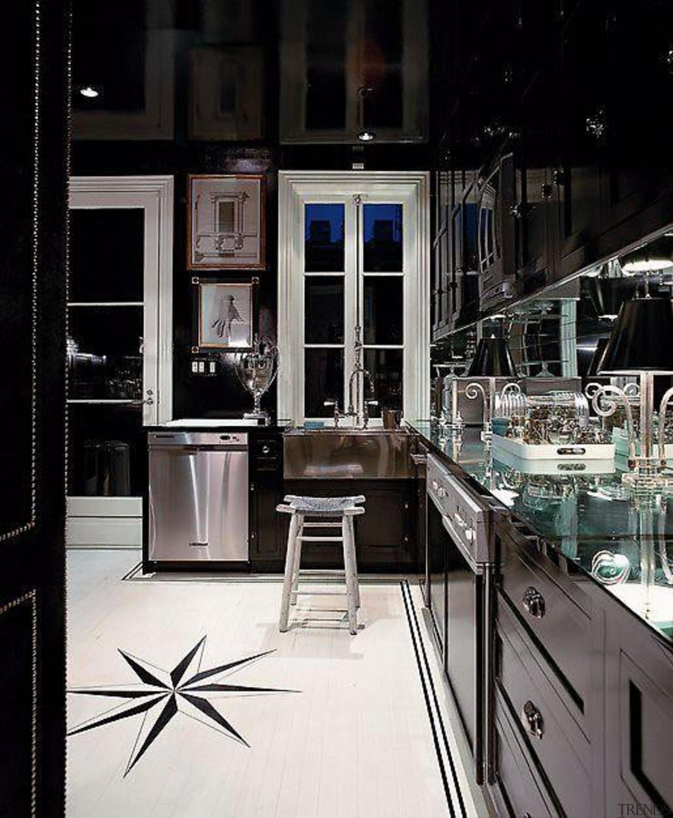 with northern star tiles - Black Kitchen - countertop, interior design, kitchen, black