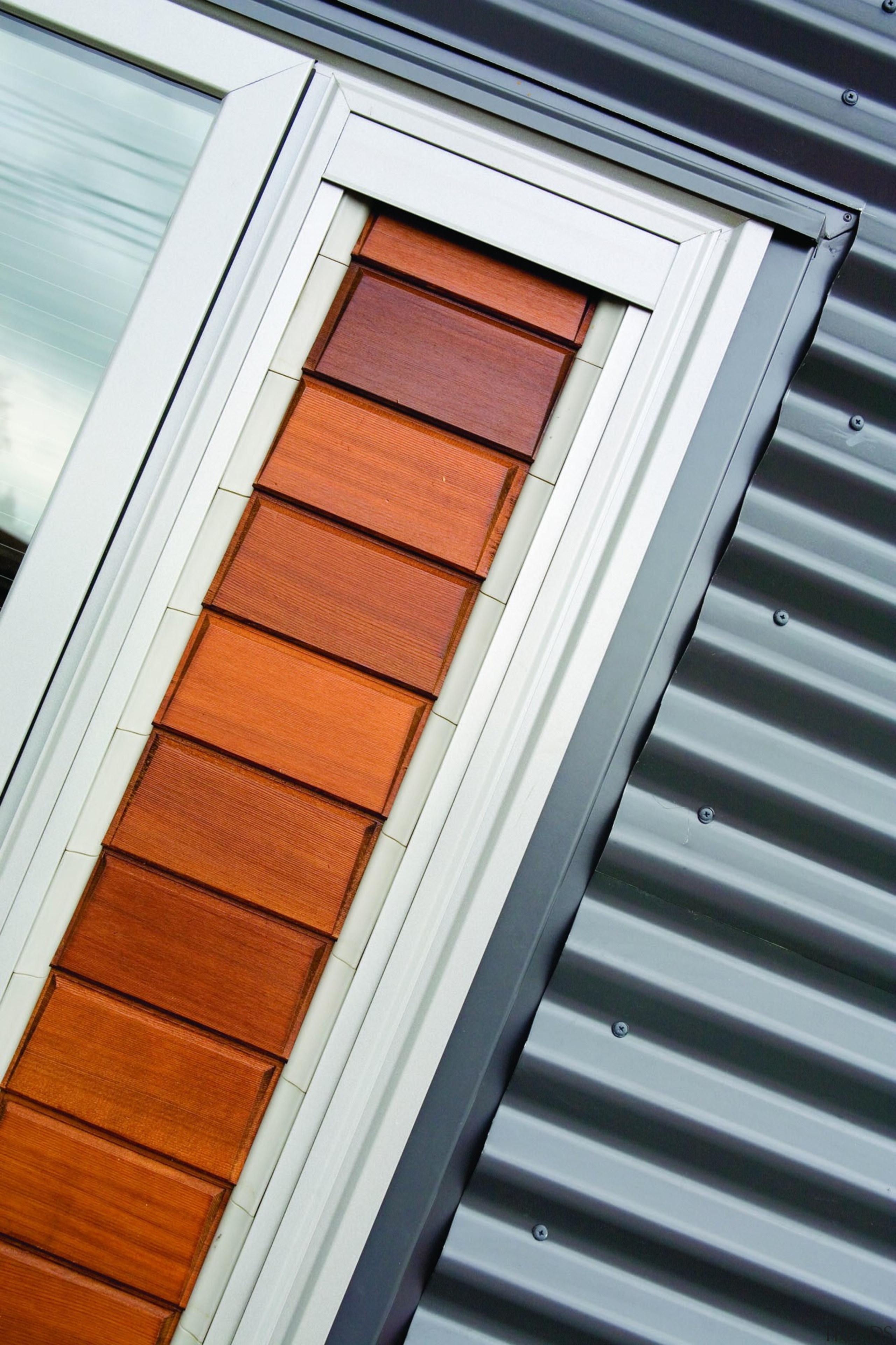 Rotorua Now - Corrugate Grey Friars - Close daylighting, facade, house, line, roof, siding, window, wood, wood stain, gray