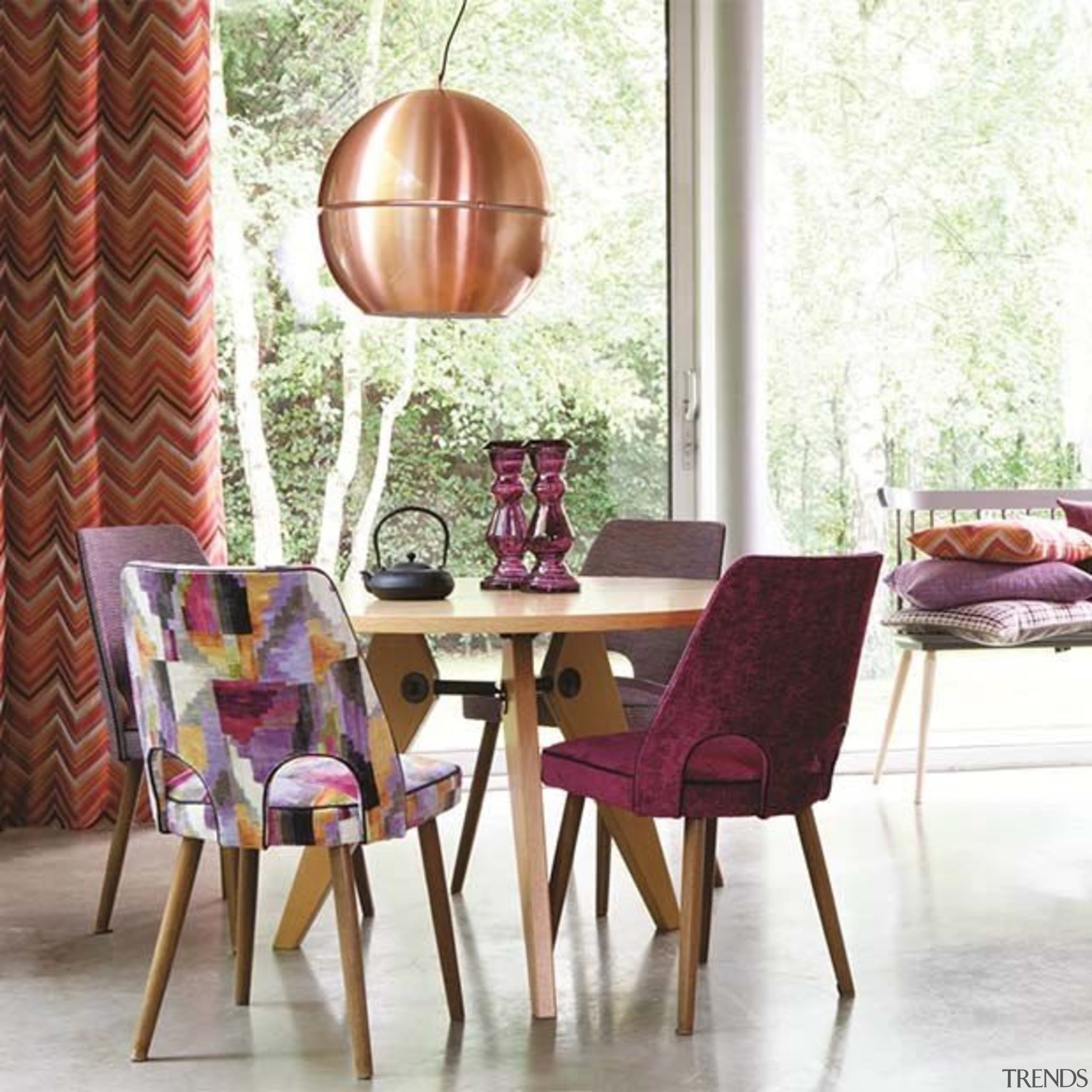 Kaleidoscope 2 chair, dining room, furniture, home, interior design, living room, room, table, white