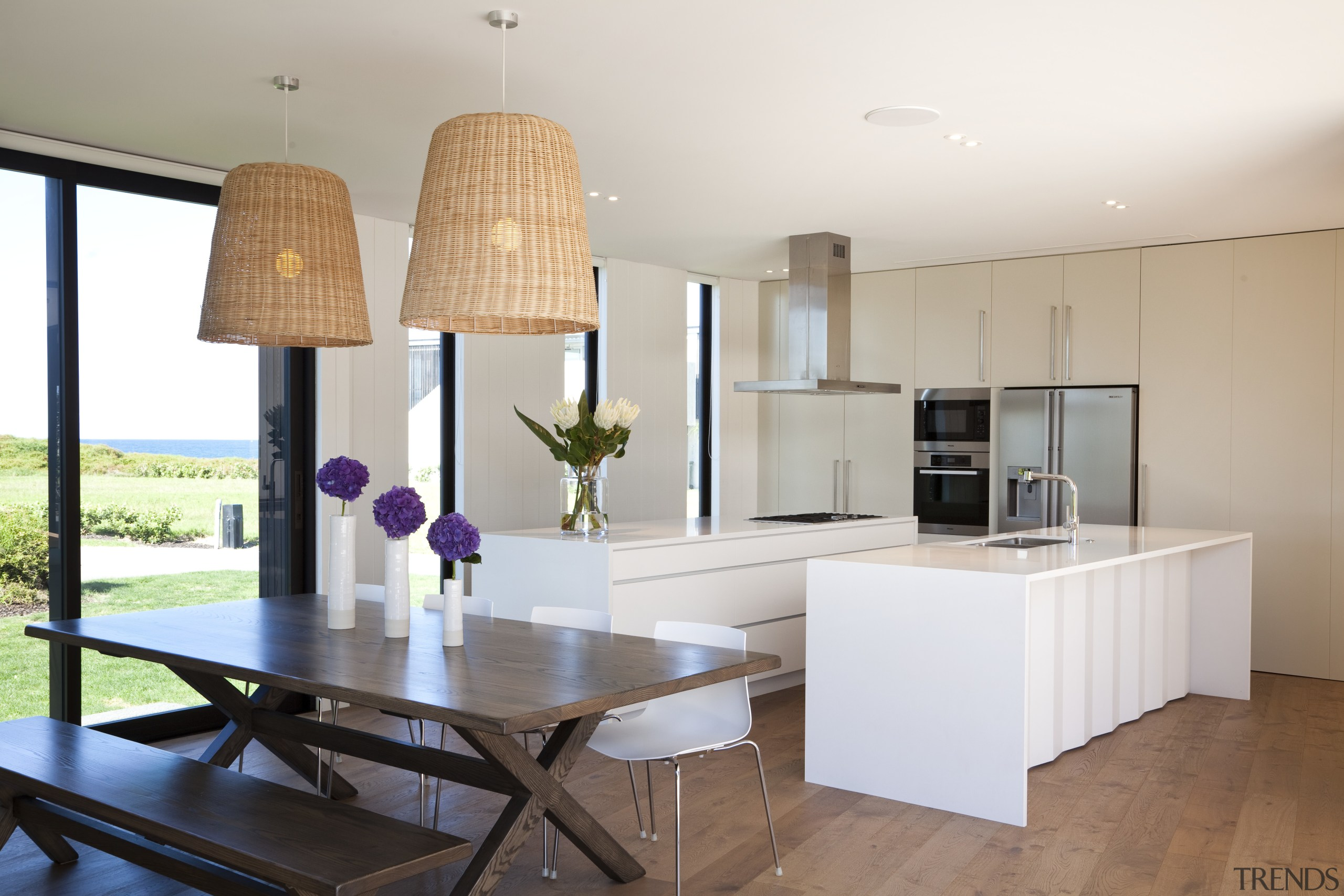 Ponting Fitzgerald-designed beach house - Ponting Fitzgerald-designed beach architecture, countertop, interior design, kitchen, property, real estate, room, table, white