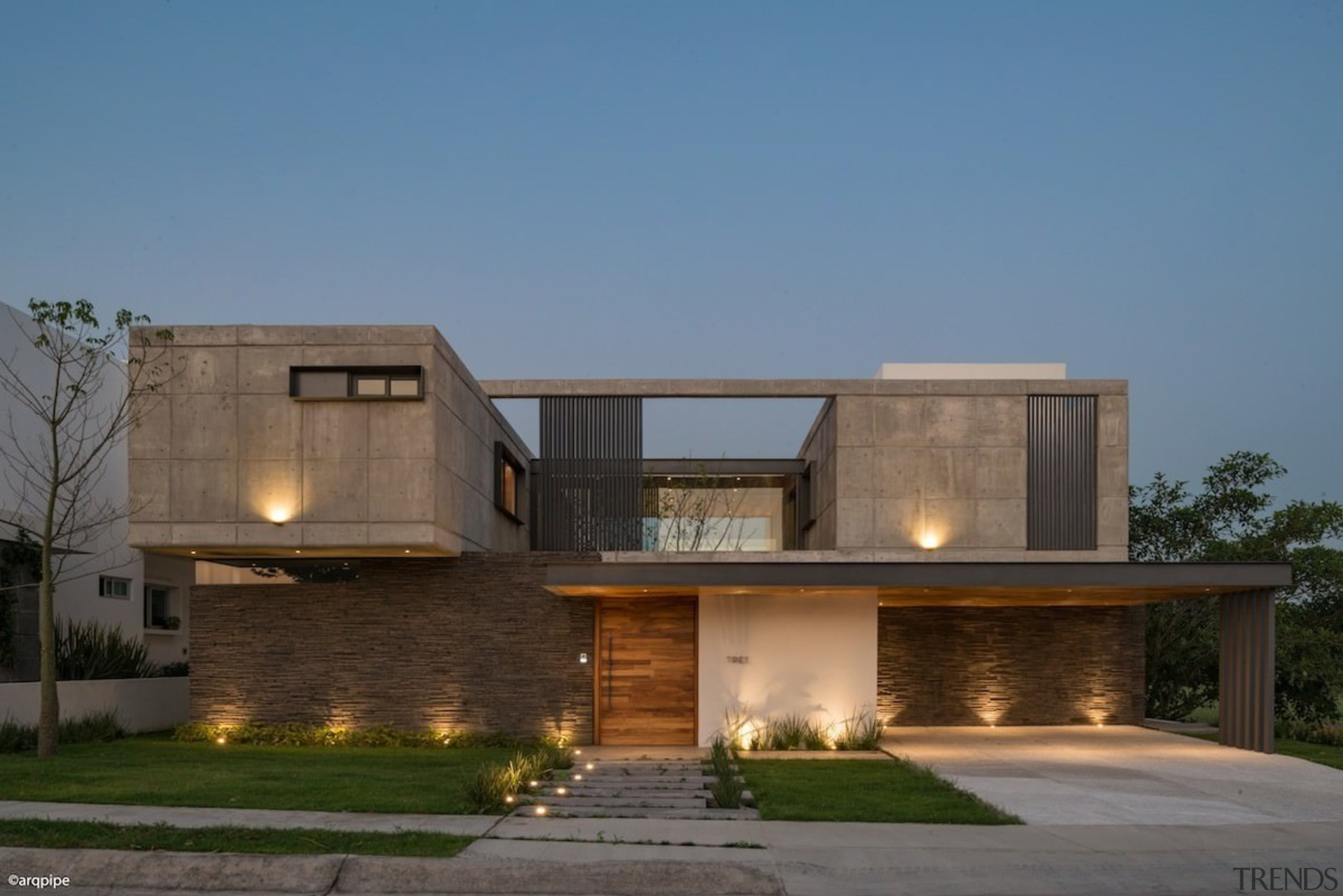 Colima home/Di Frenna Arquitectos - Colima home/Di Frenna architecture, building, elevation, estate, facade, home, house, property, real estate, residential area, teal, brown