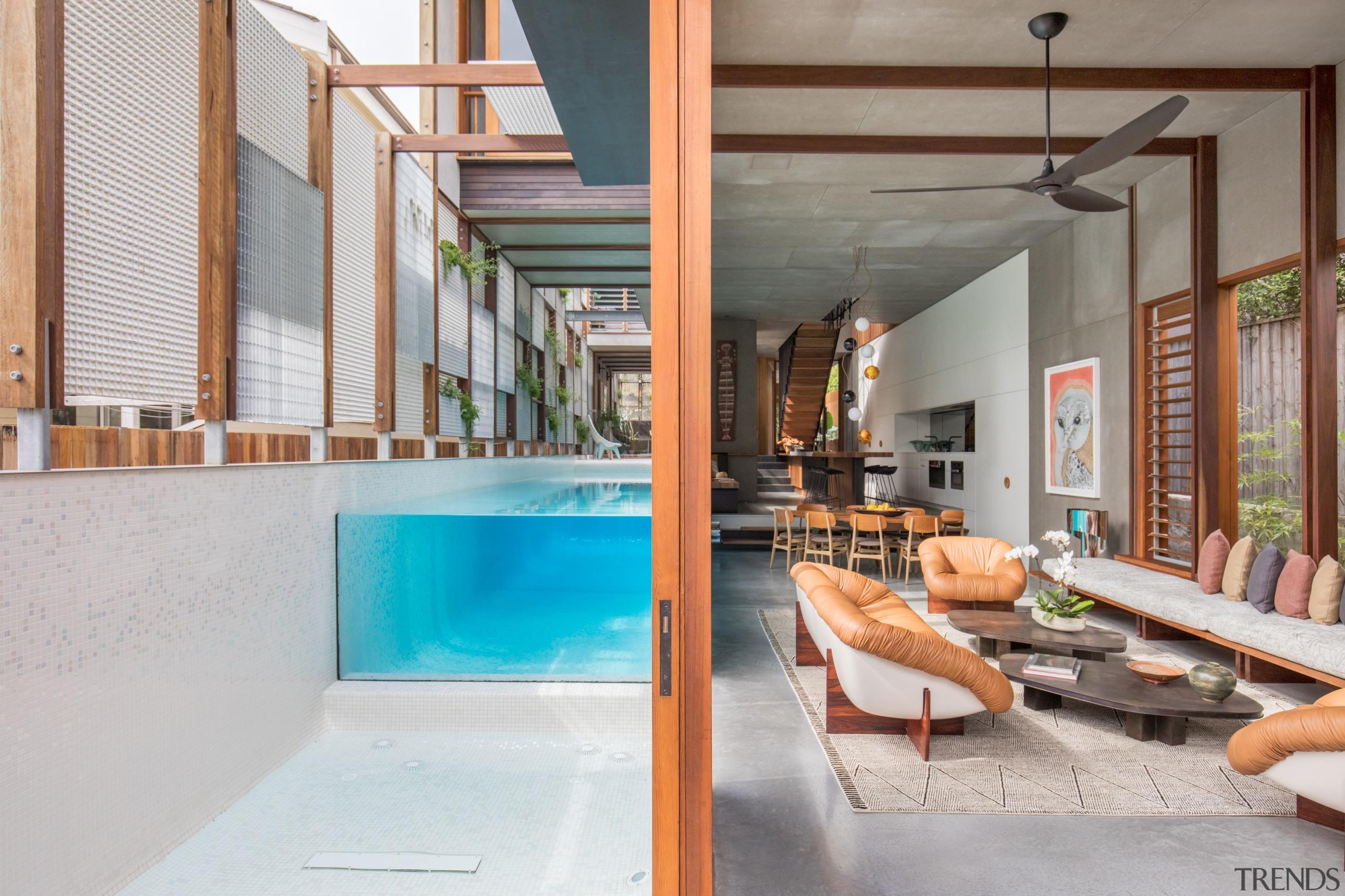 Despite the narrow site, architect Clinton Cole has architecture, estate, house, interior design, real estate, gray