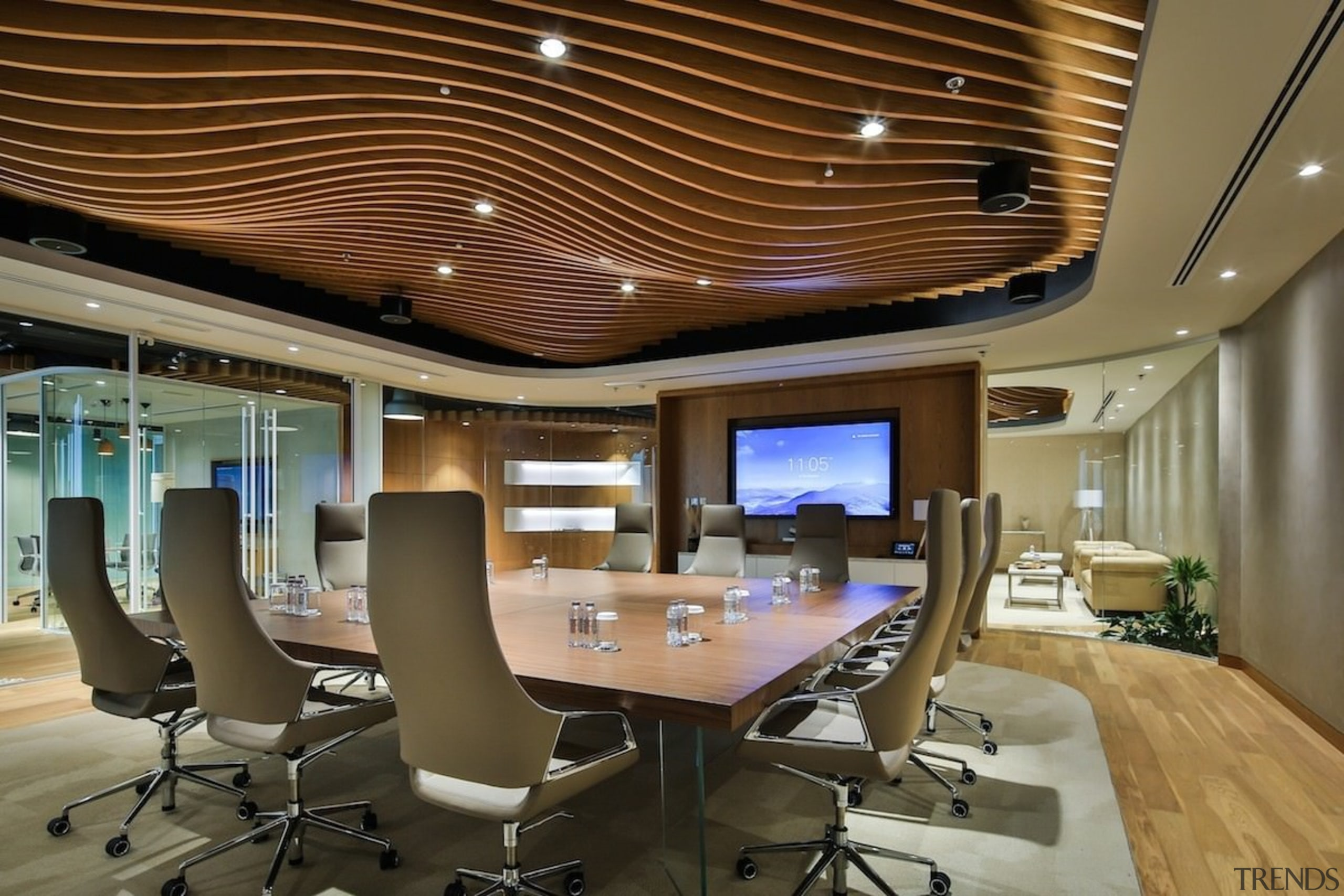 Smart Dubai - Smart Dubai - ceiling | ceiling, conference hall, interior design, office, brown