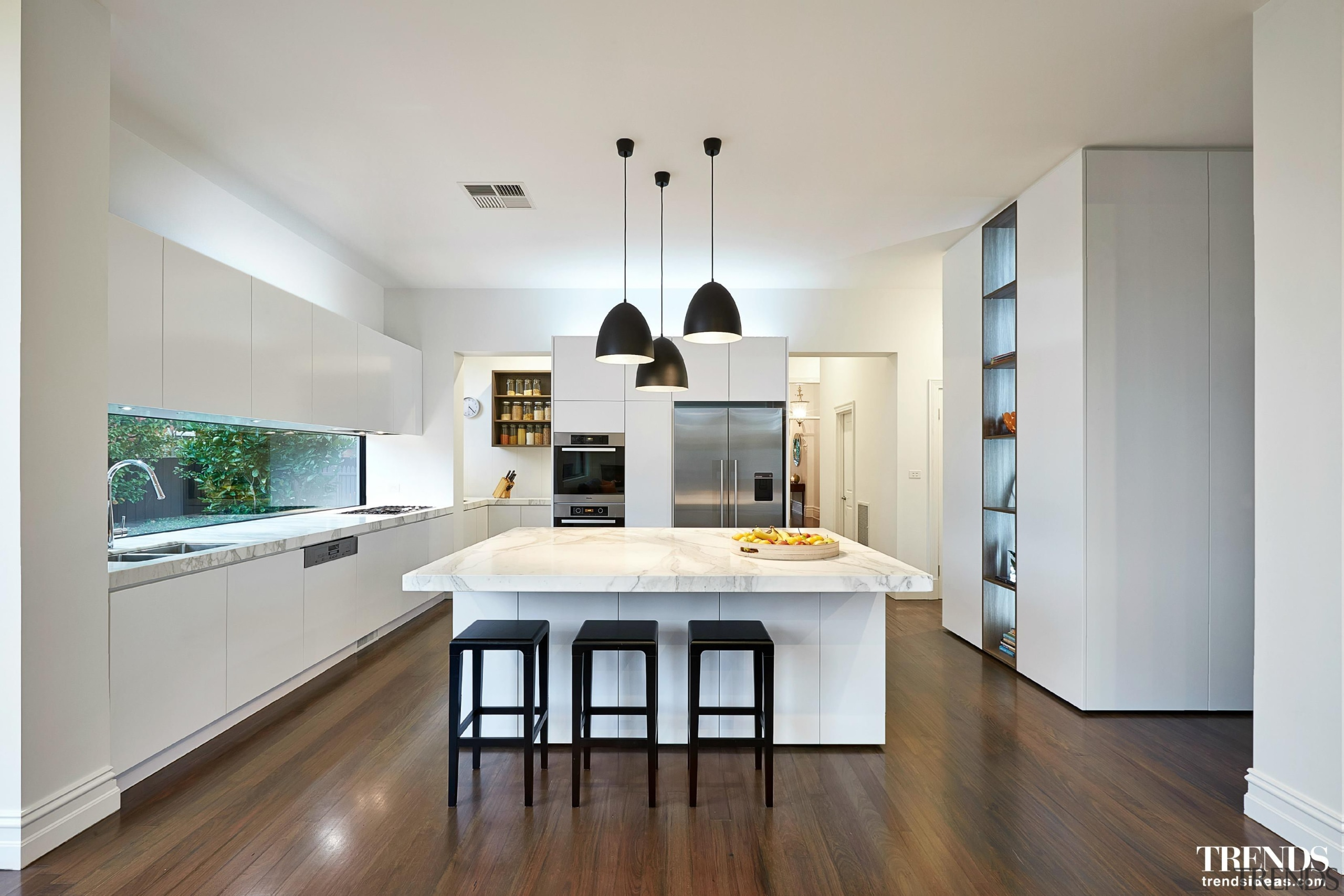 LSA Architects - countertop | floor | flooring countertop, floor, flooring, hardwood, interior design, kitchen, living room, property, real estate, room, wood flooring, gray