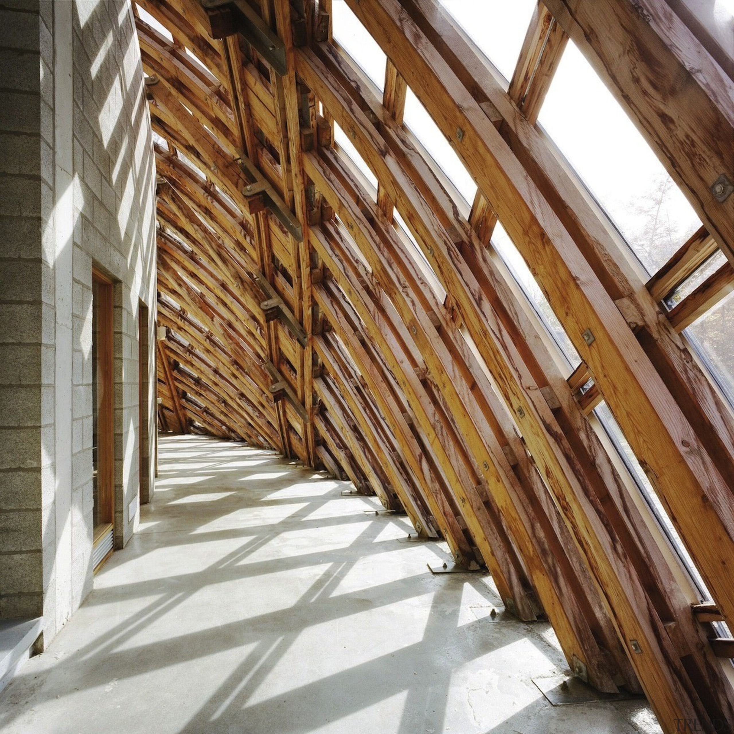 Forestry Branch – Marche-en-Famenne - Forestry Branch – beam, daylighting, floor, property, roof, structure, wood, brown