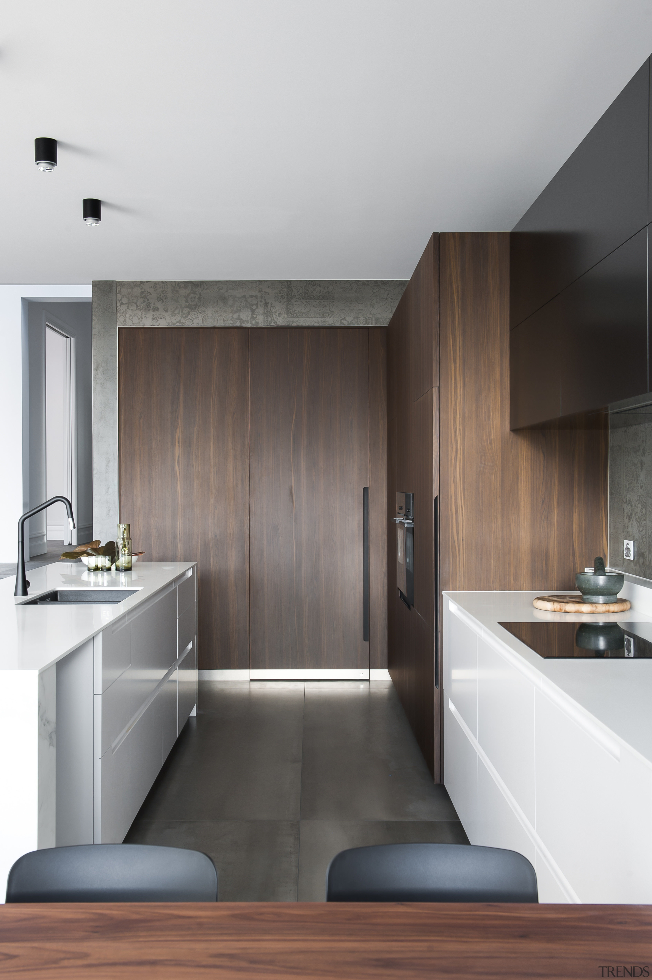 With the door and wall of the laundry architecture, bathroom, cabinetry, countertop, floor, interior design, kitchen, product design, room, sink, tap, white