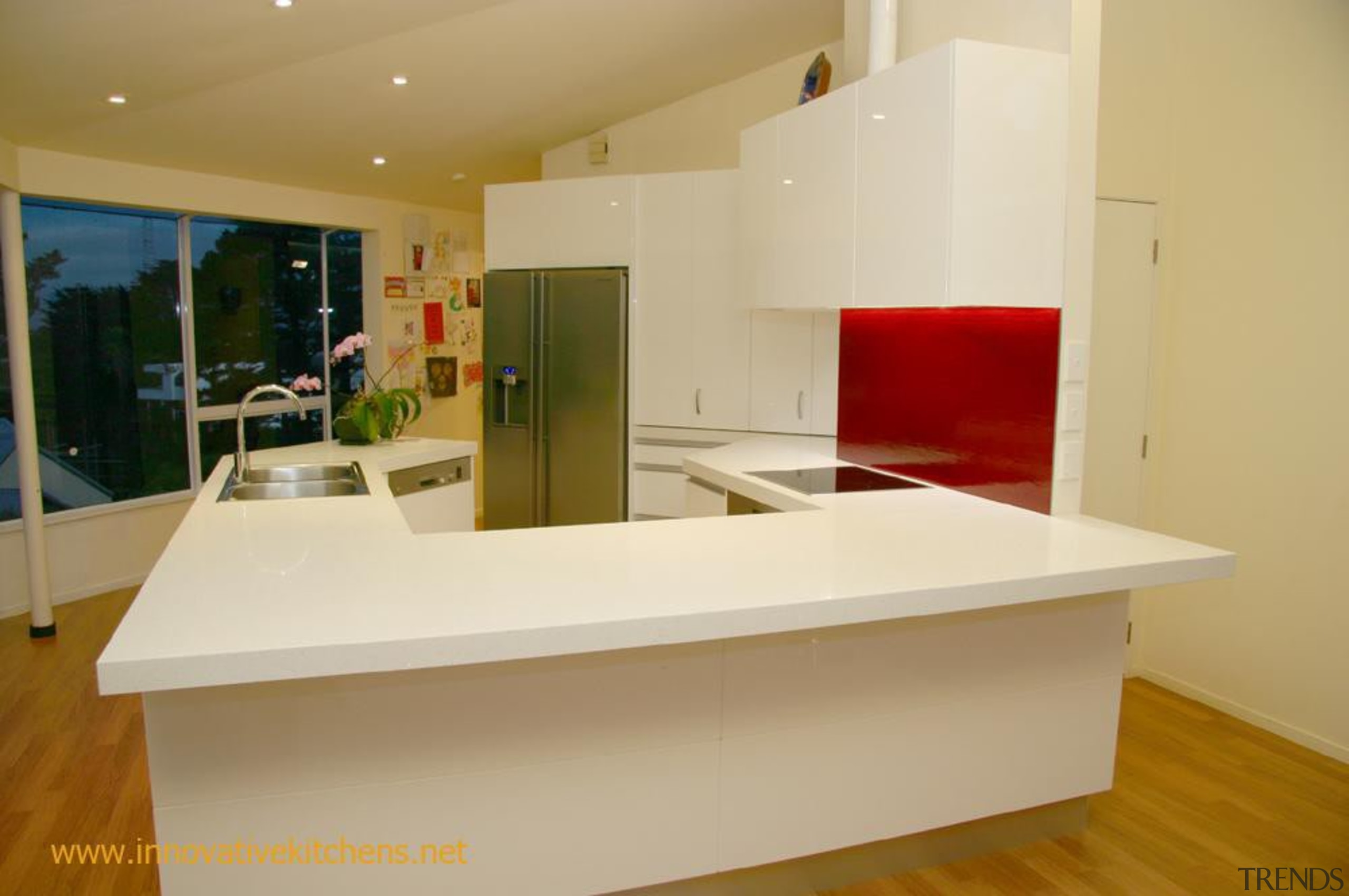 18 modern hillsborough 2012 2.jpg - 18_modern_hillsborough_2012_2.jpg - countertop, floor, furniture, interior design, kitchen, property, real estate, orange, brown