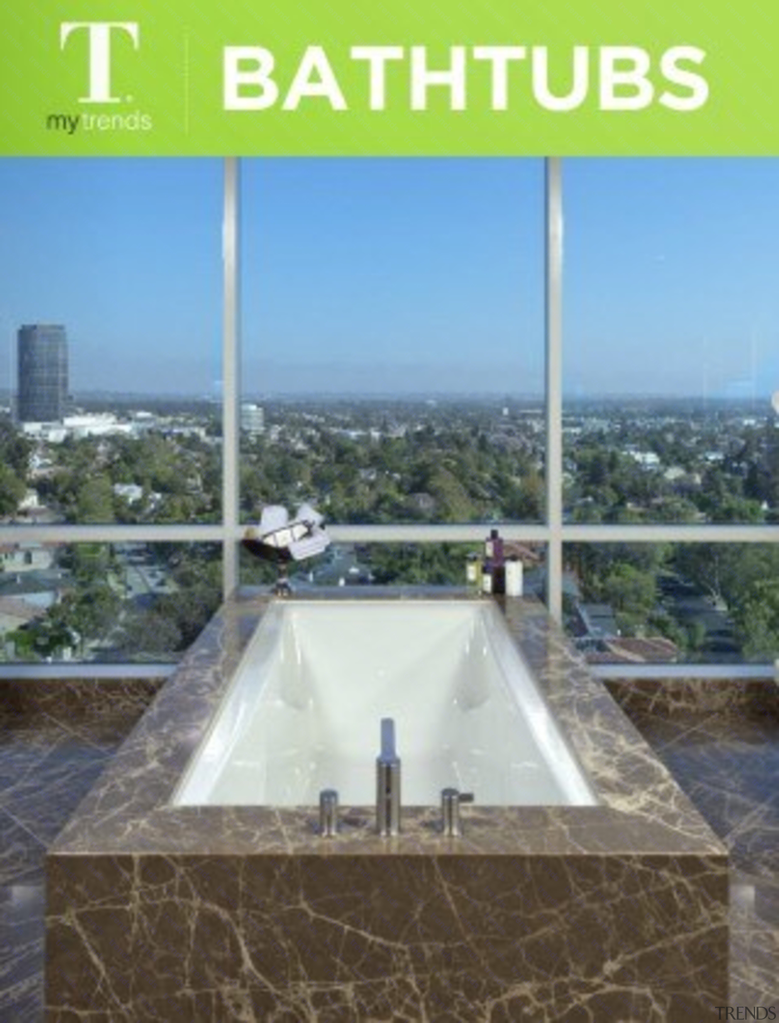 Bathtubs architecture, real estate, teal