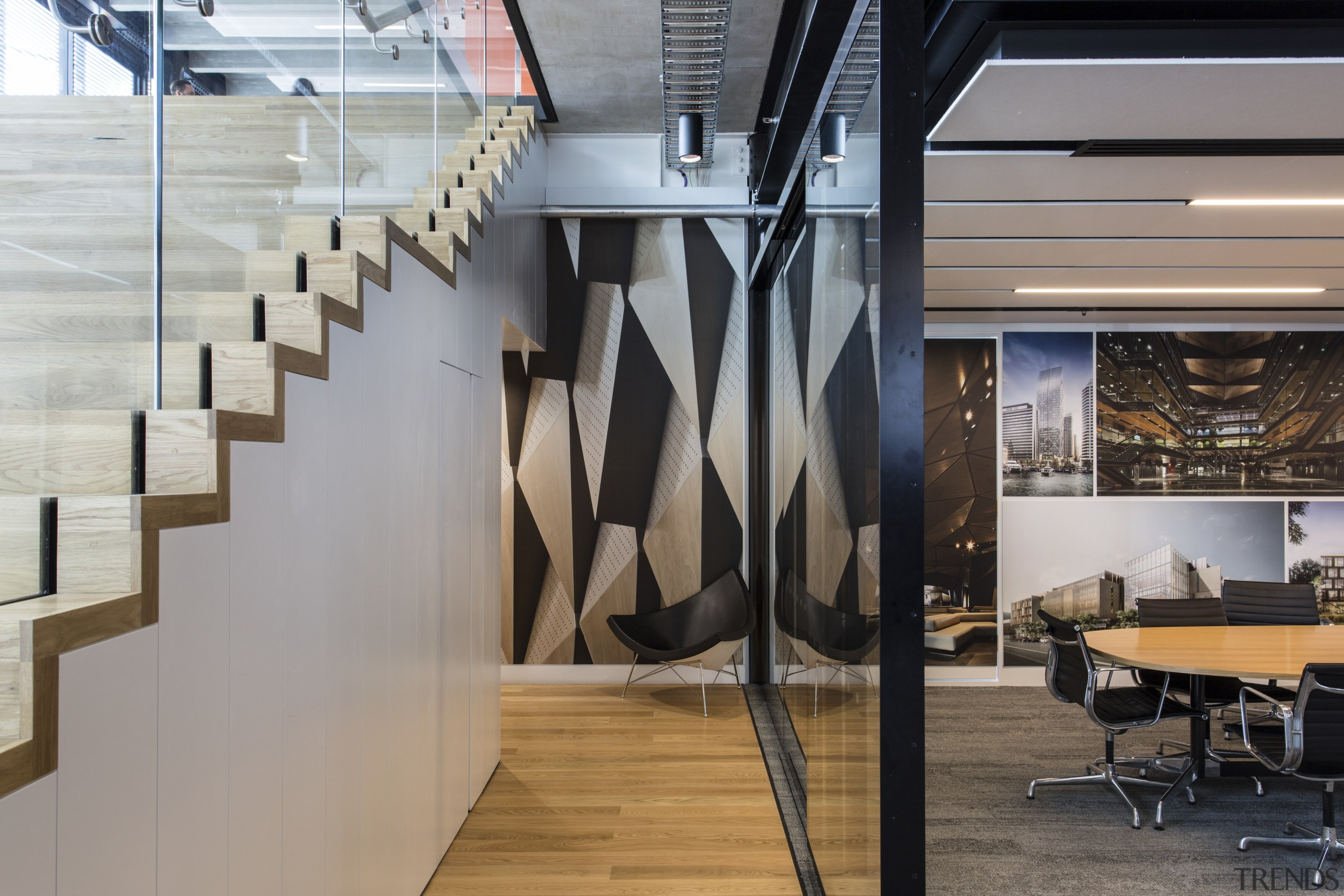 These office partition systems were created by Glassforce architecture, interior design, product design, gray