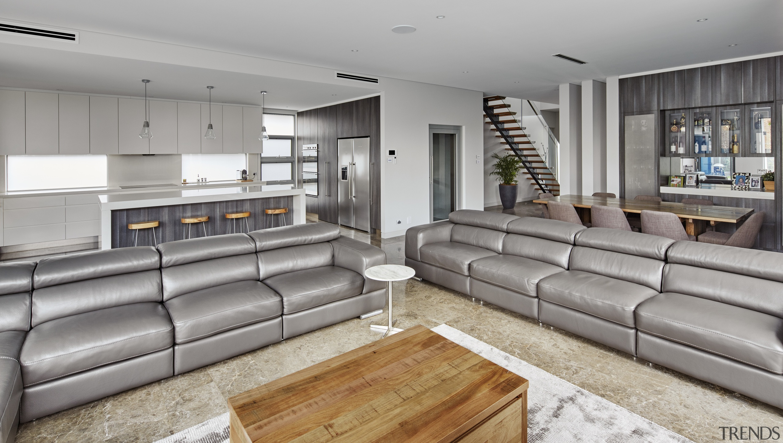 The interior spaces of this house built by interior design, living room, property, real estate, gray