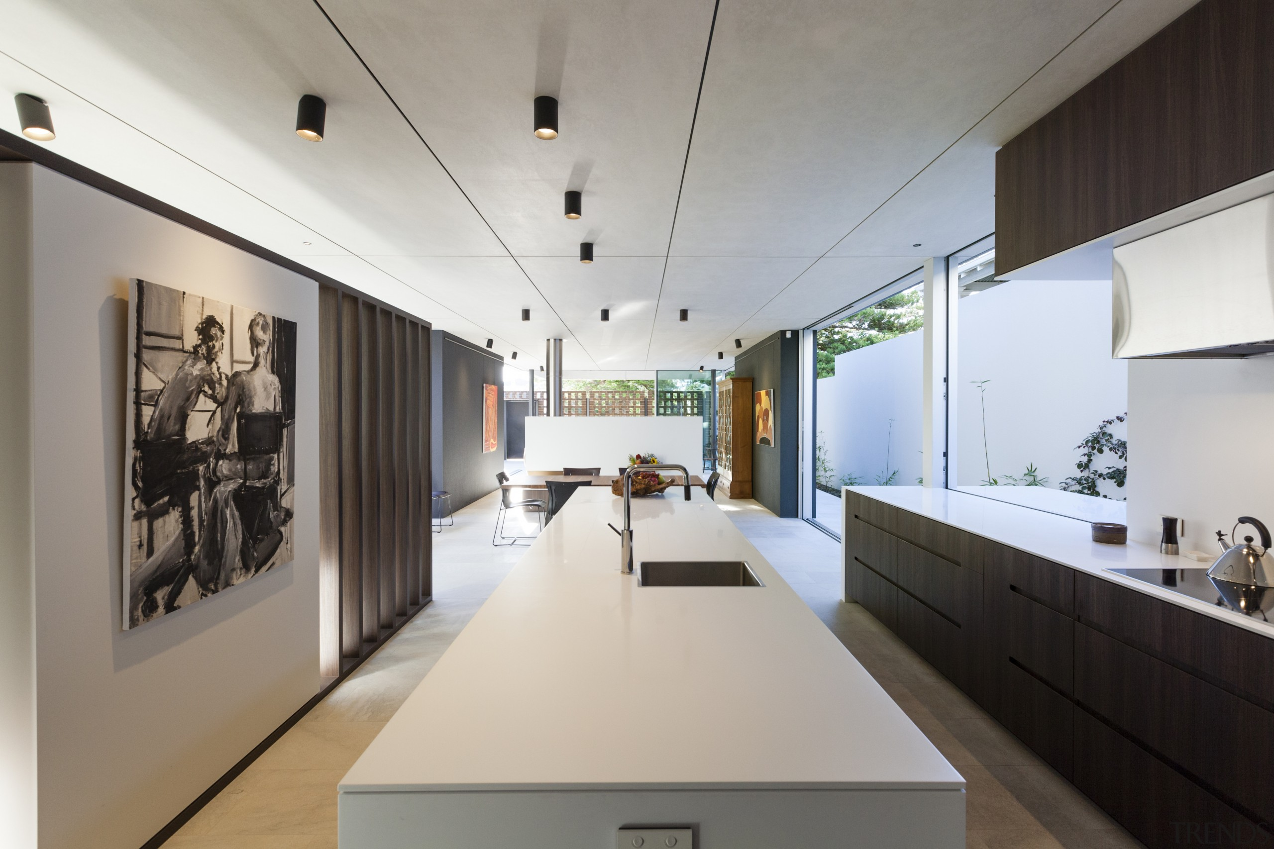 Line of sight – this kitchen by Mark architecture, exhibition, interior design, gray