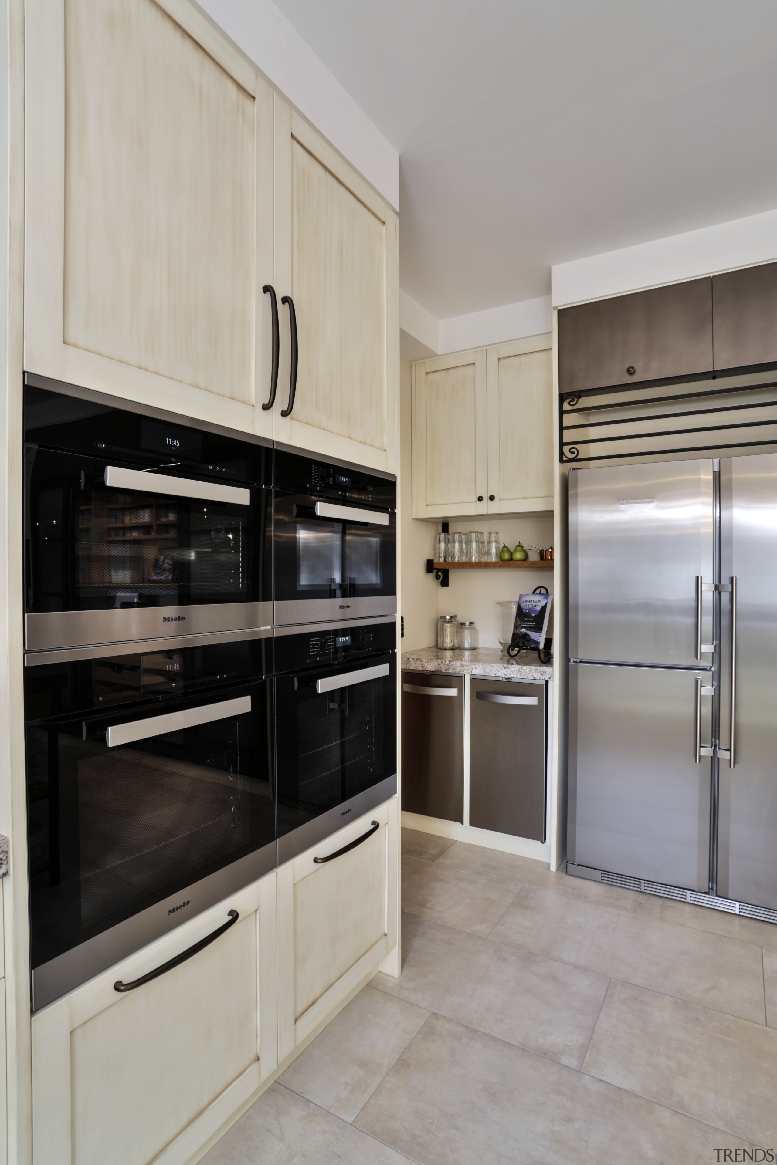 Rubbish and recycling is positioned near the garage cabinetry, countertop, cuisine classique, home appliance, interior design, kitchen, major appliance, property, real estate, room, gray