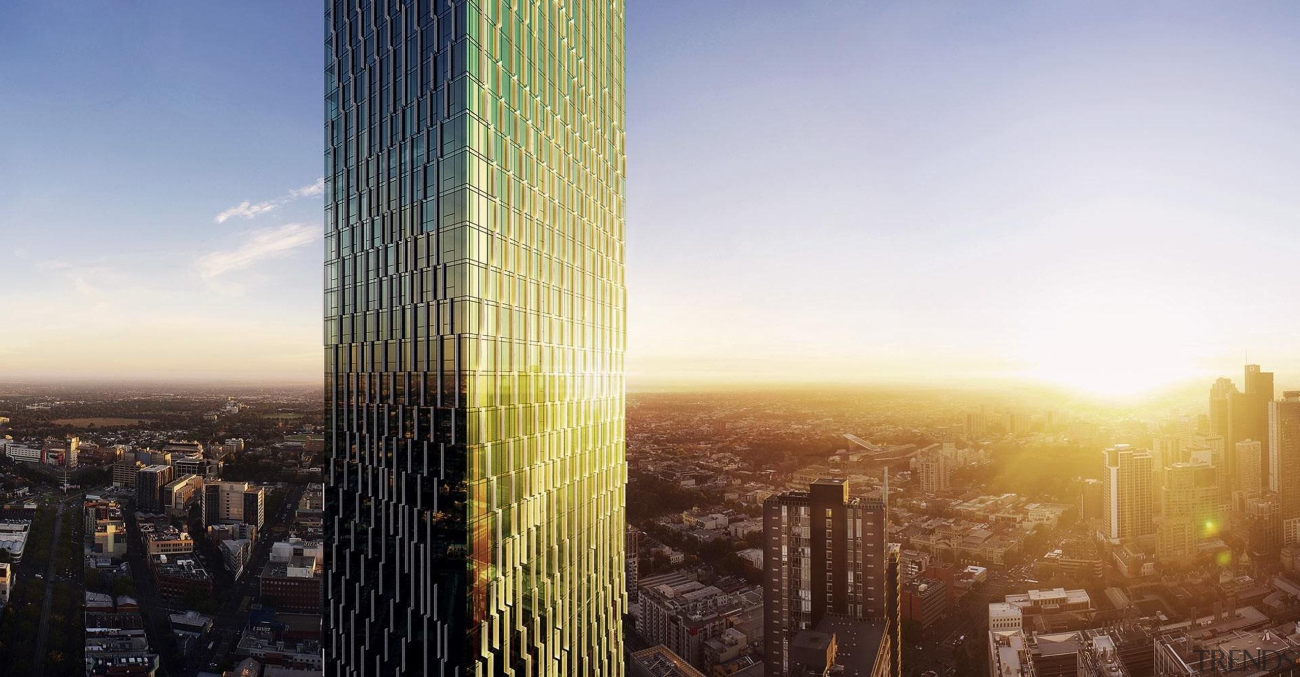 The fins assist with weather and sun protection building, city, cityscape, daytime, landmark, metropolis, metropolitan area, sky, skyline, skyscraper, sunlight, tower, tower block, urban area, gray