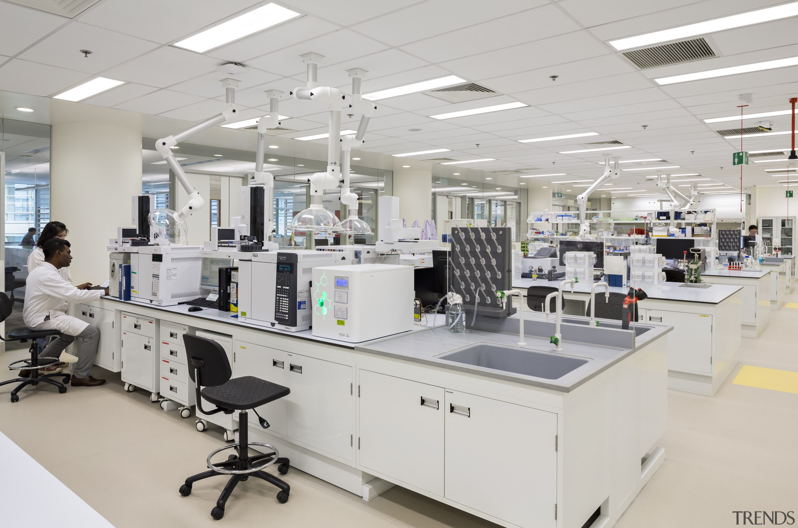 These laboratories for P&G Singapore were designed by chemistry, healthcare science, institution, laboratory, medical research, product, research, gray